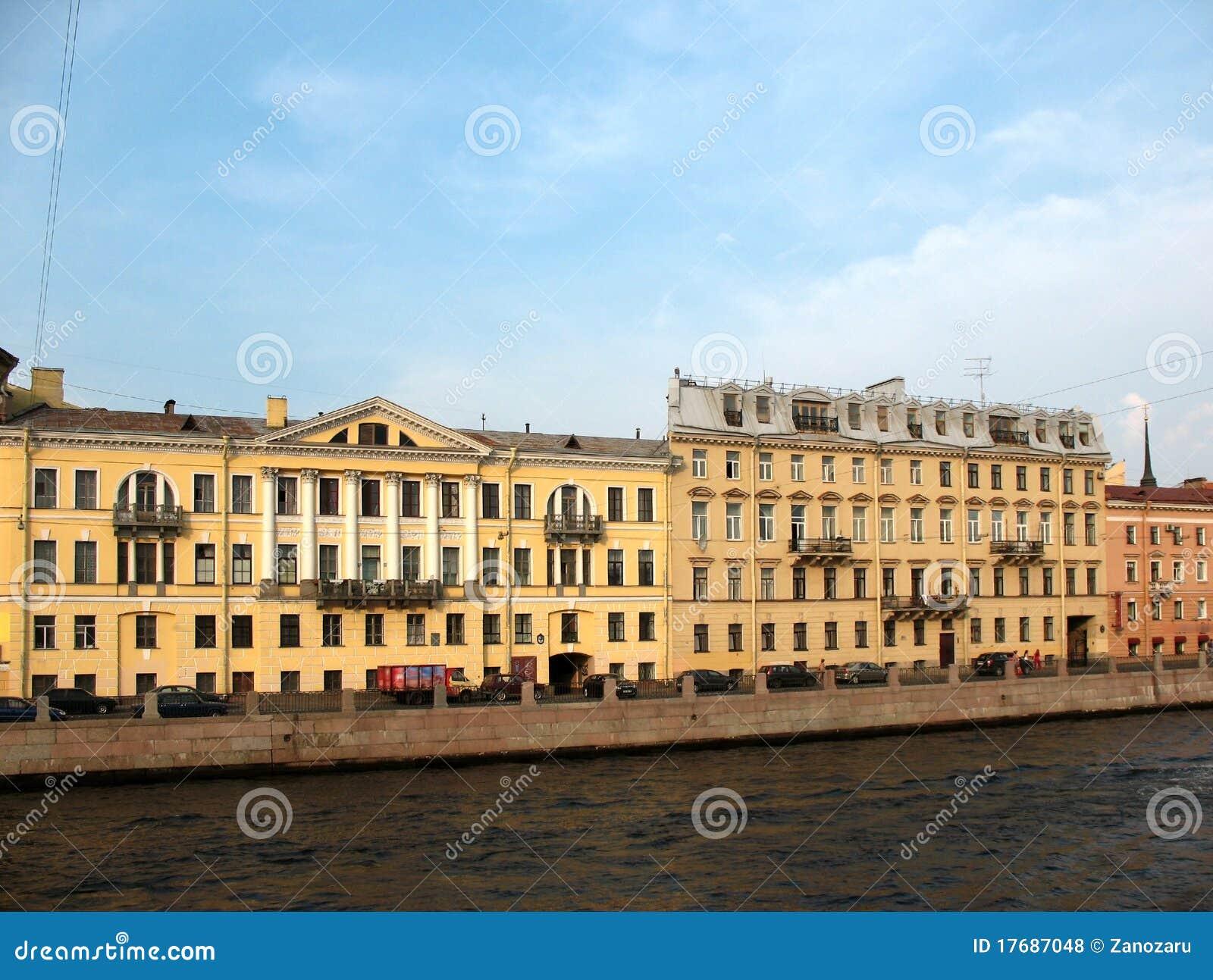 Bulwaru fontanka Petersburg święty