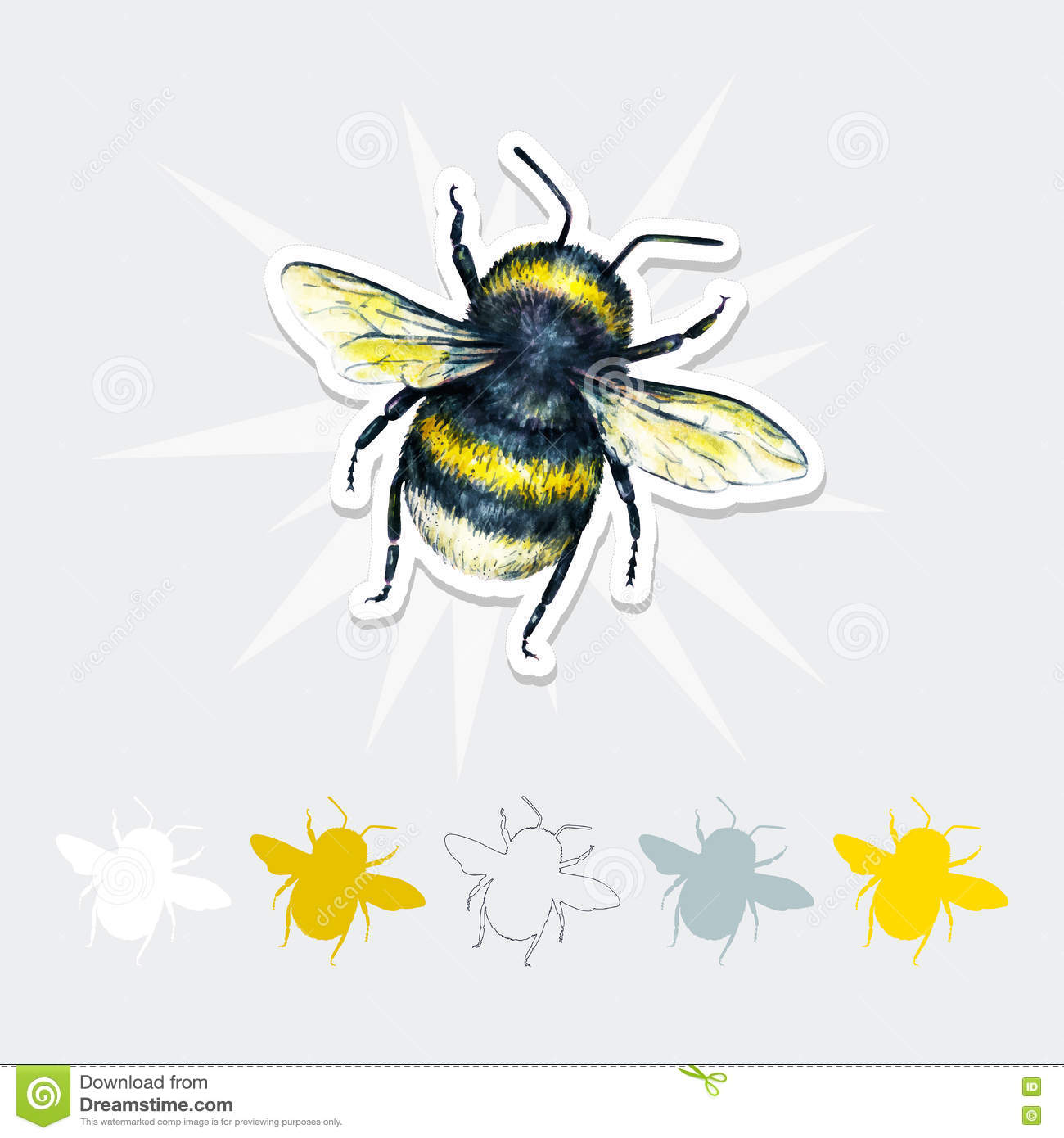 Bumblebee Insect Drawing Bumblebee Drawing. Ins...