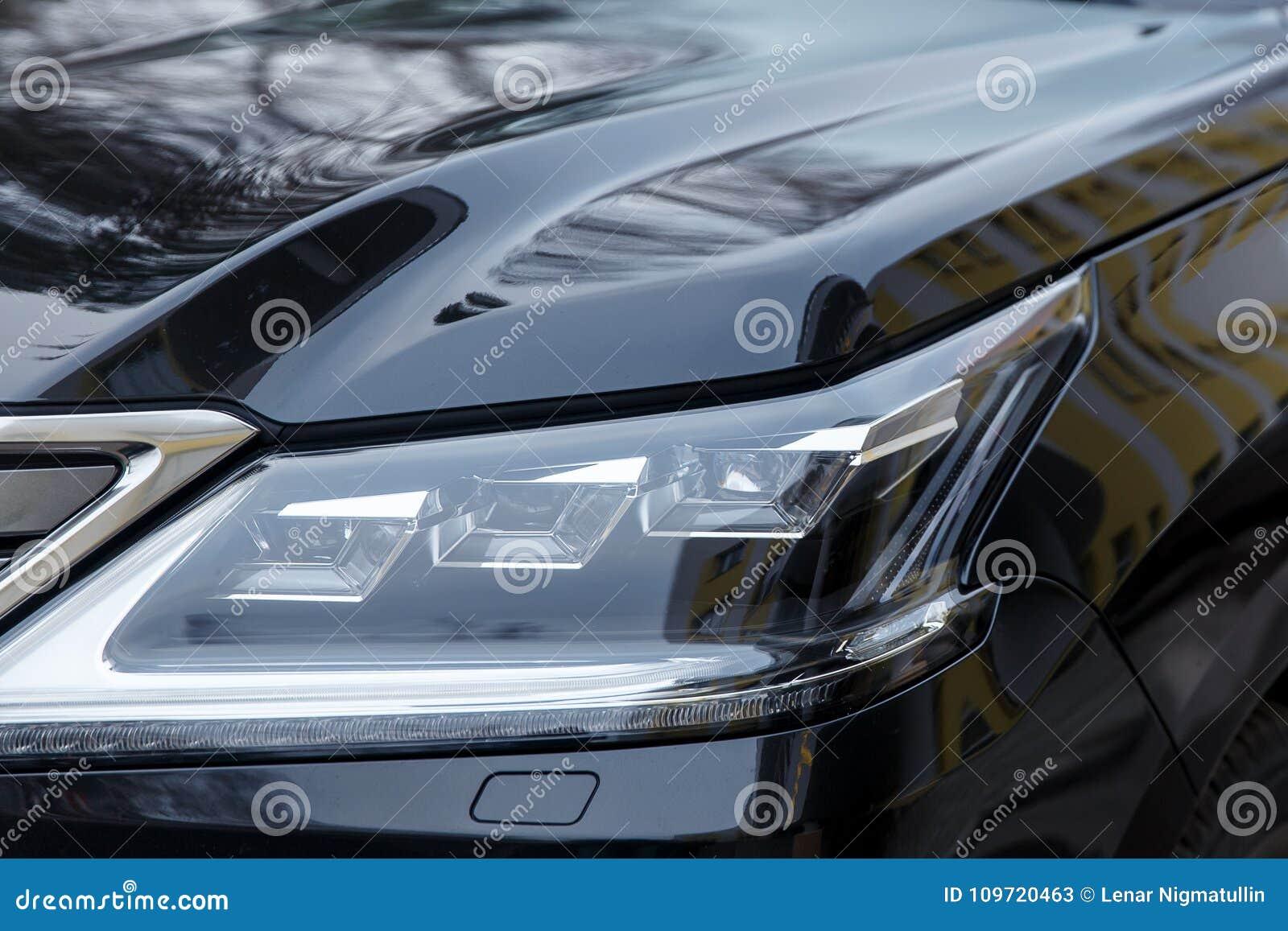 Bumper Black New Car Headlamp Glossy Coating Stock Image Image