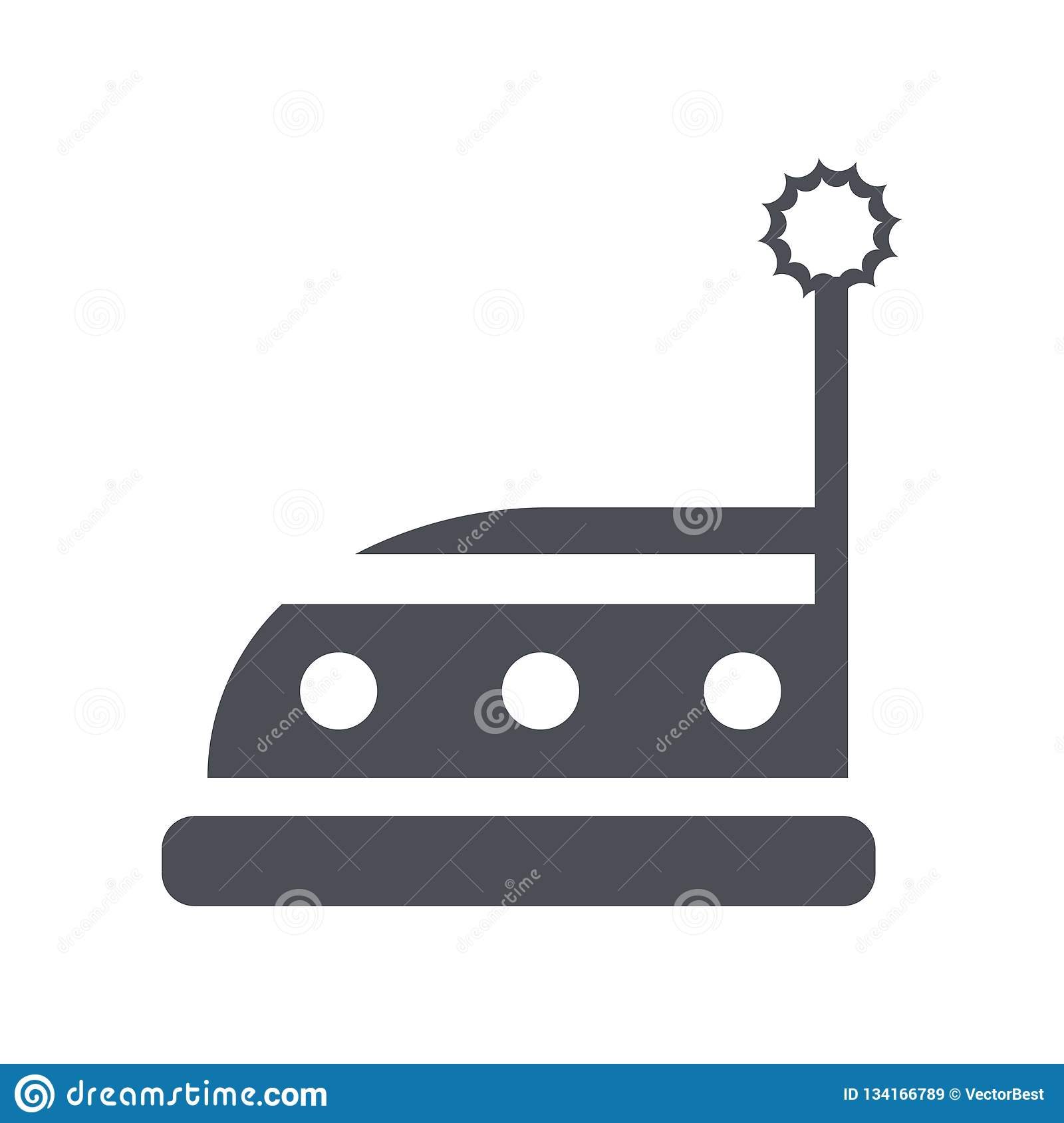 Bumper car icon vector sign and symbol isolated on white background, Bumper car logo concept