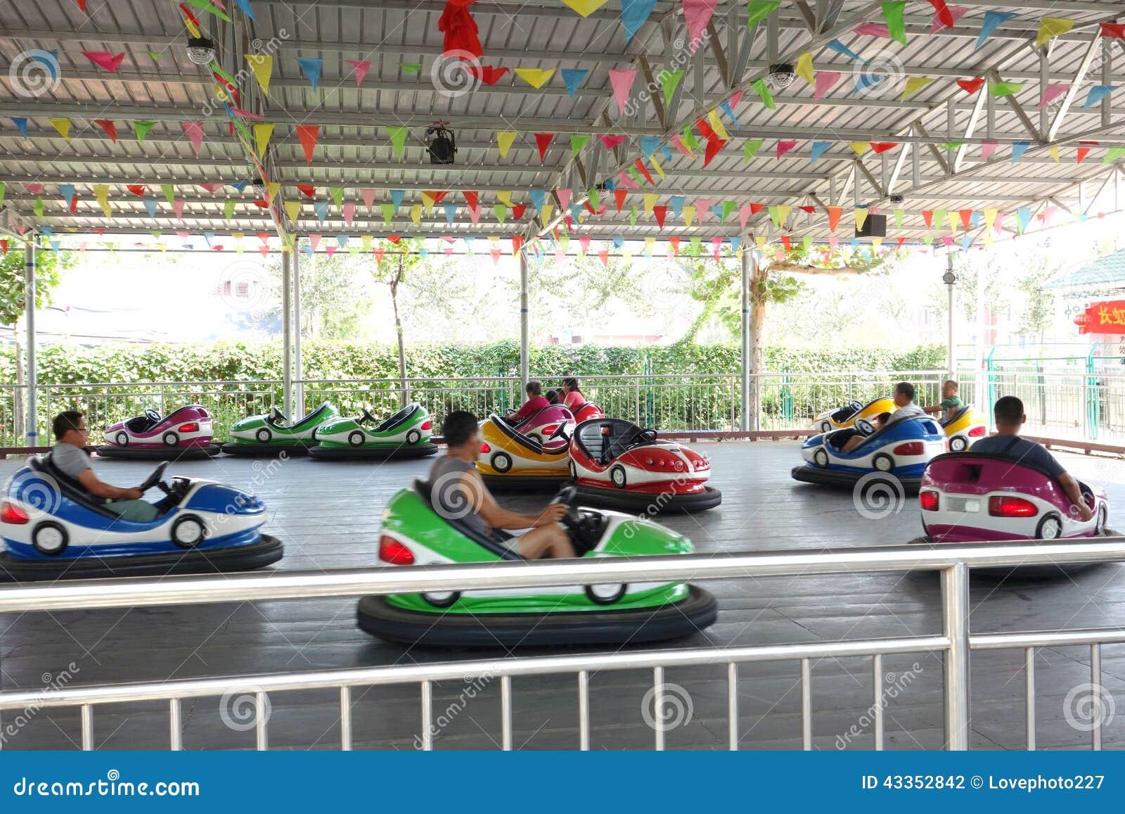 bumper cars in park