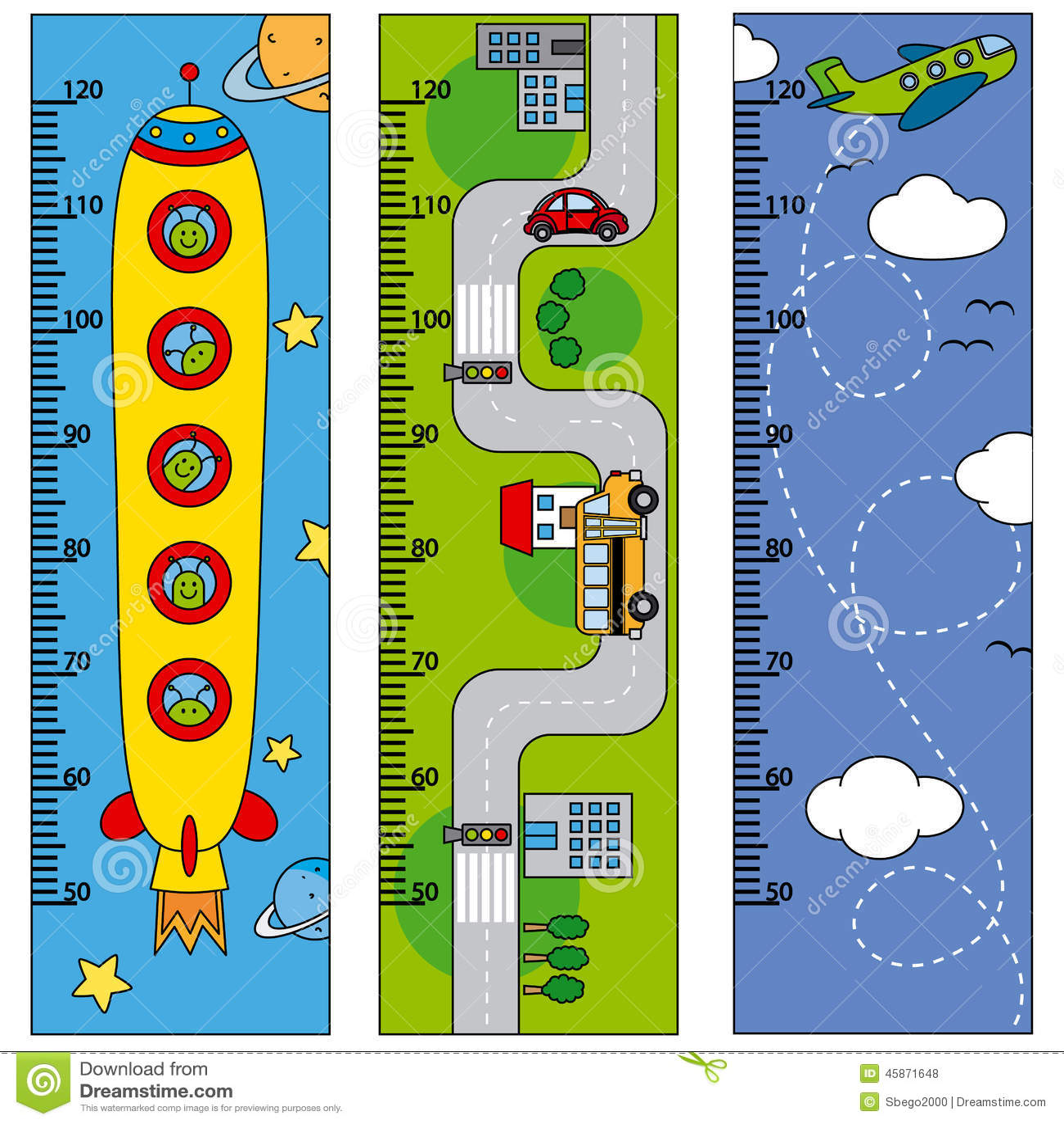 Bumper children meter wall stock illustration ...