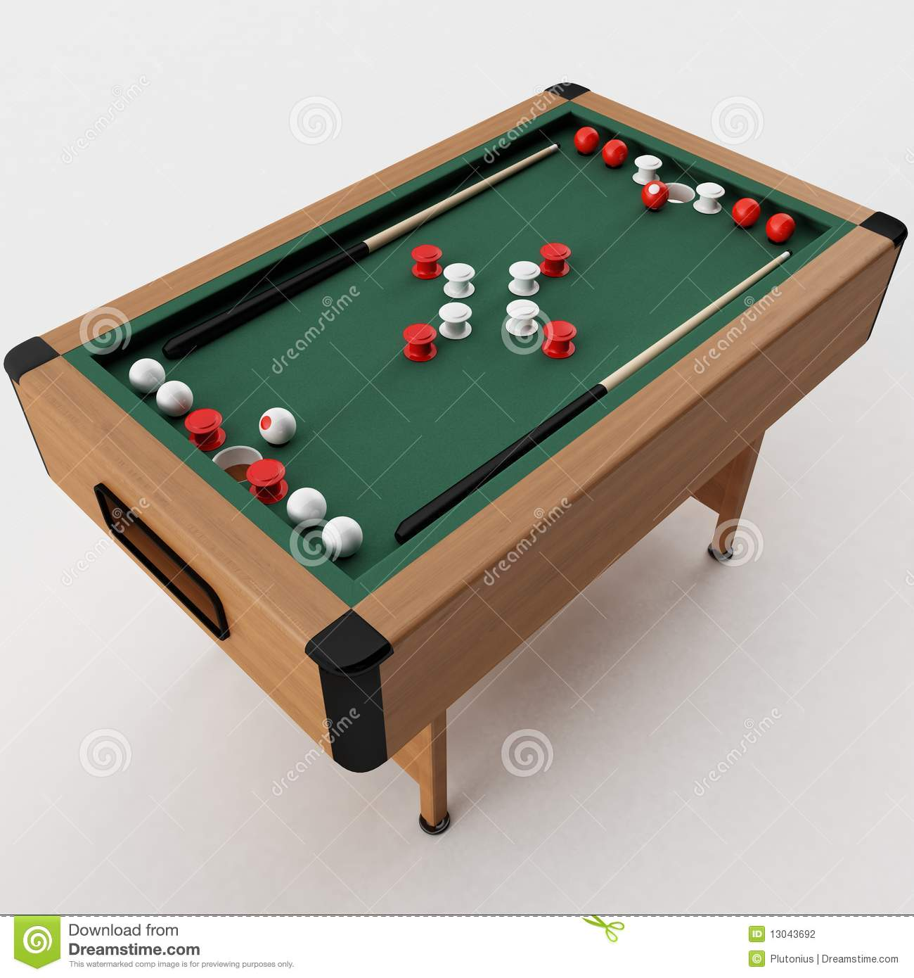 Bumper pool table stock illustration image of pool table - Bumper pool bumpers ...