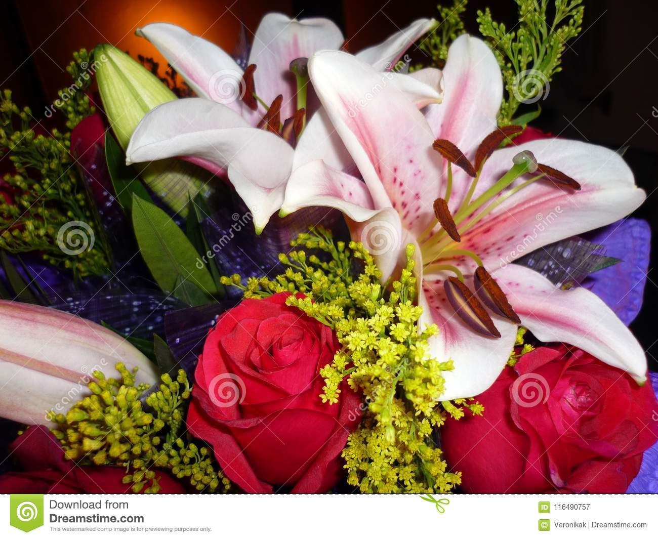 A Bunch Of Beautiful Flowers Stock Image Image Of Green Gift