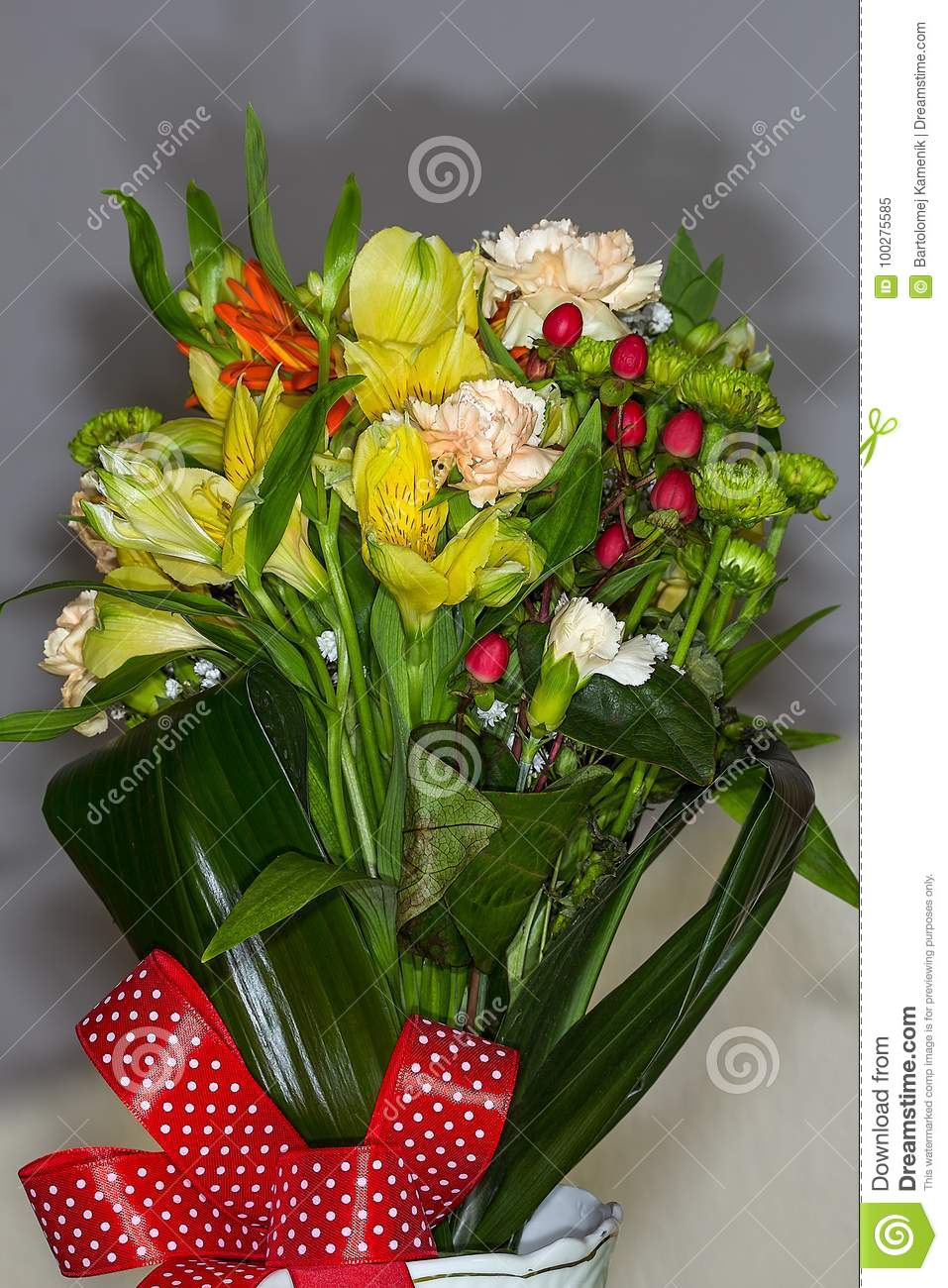 Bunch Of Beautiful Flowers With Many Colors Stock Image Image Of