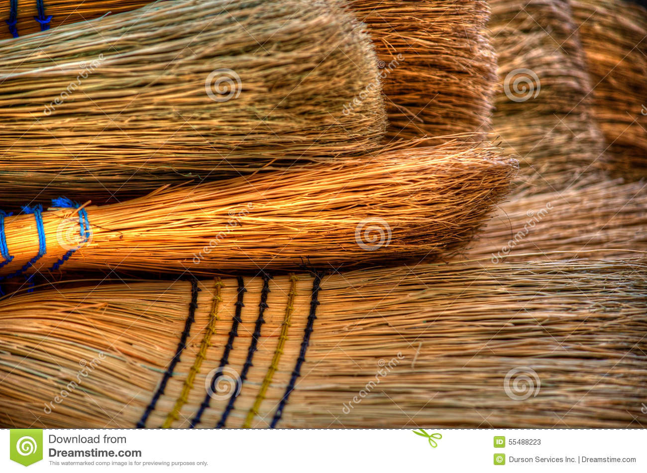 Bunch Of Brooms Stock Photo Image 55488223