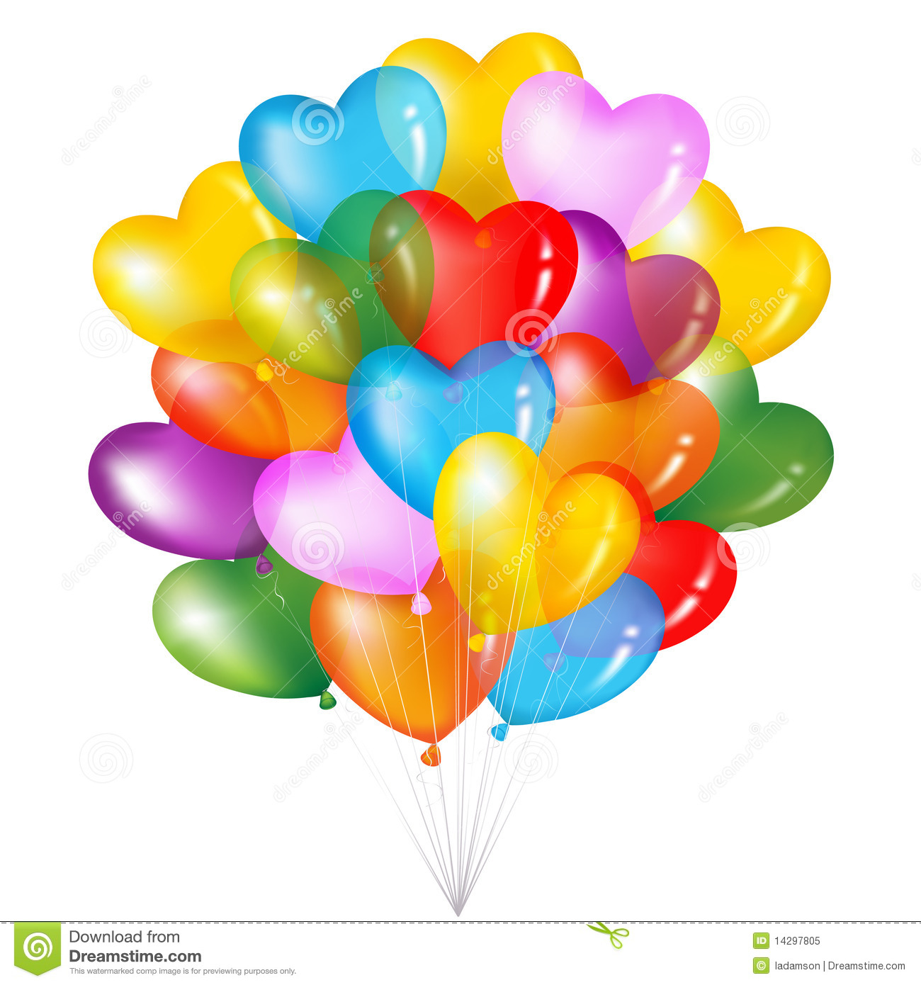 Bunch Of Colorful Hear... Up Balloons Wallpaper Hd