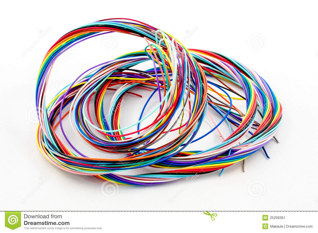 A bunch of colourful cables