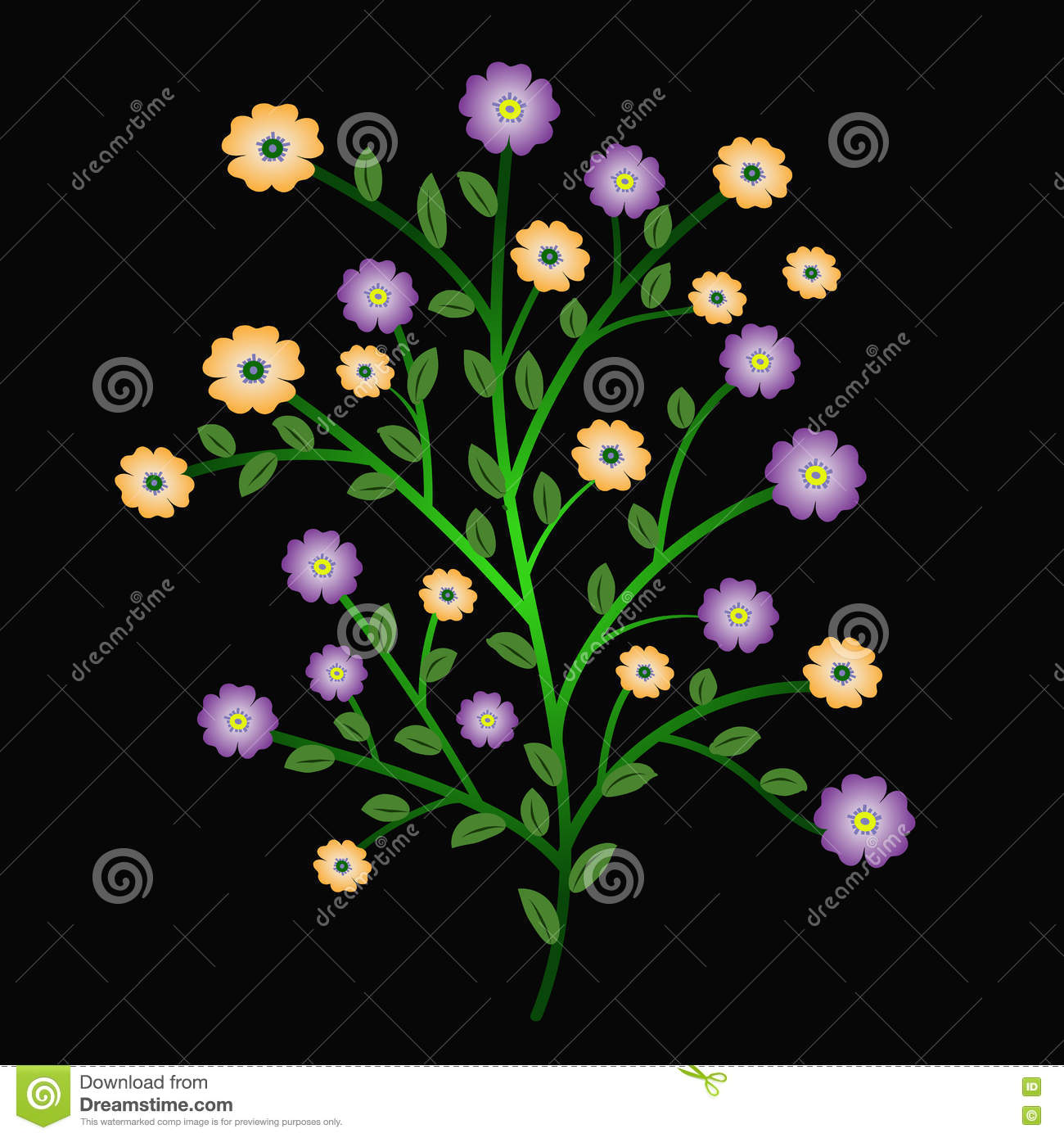Bunch Flower Colorful Stock Illustration Illustration Of Picture