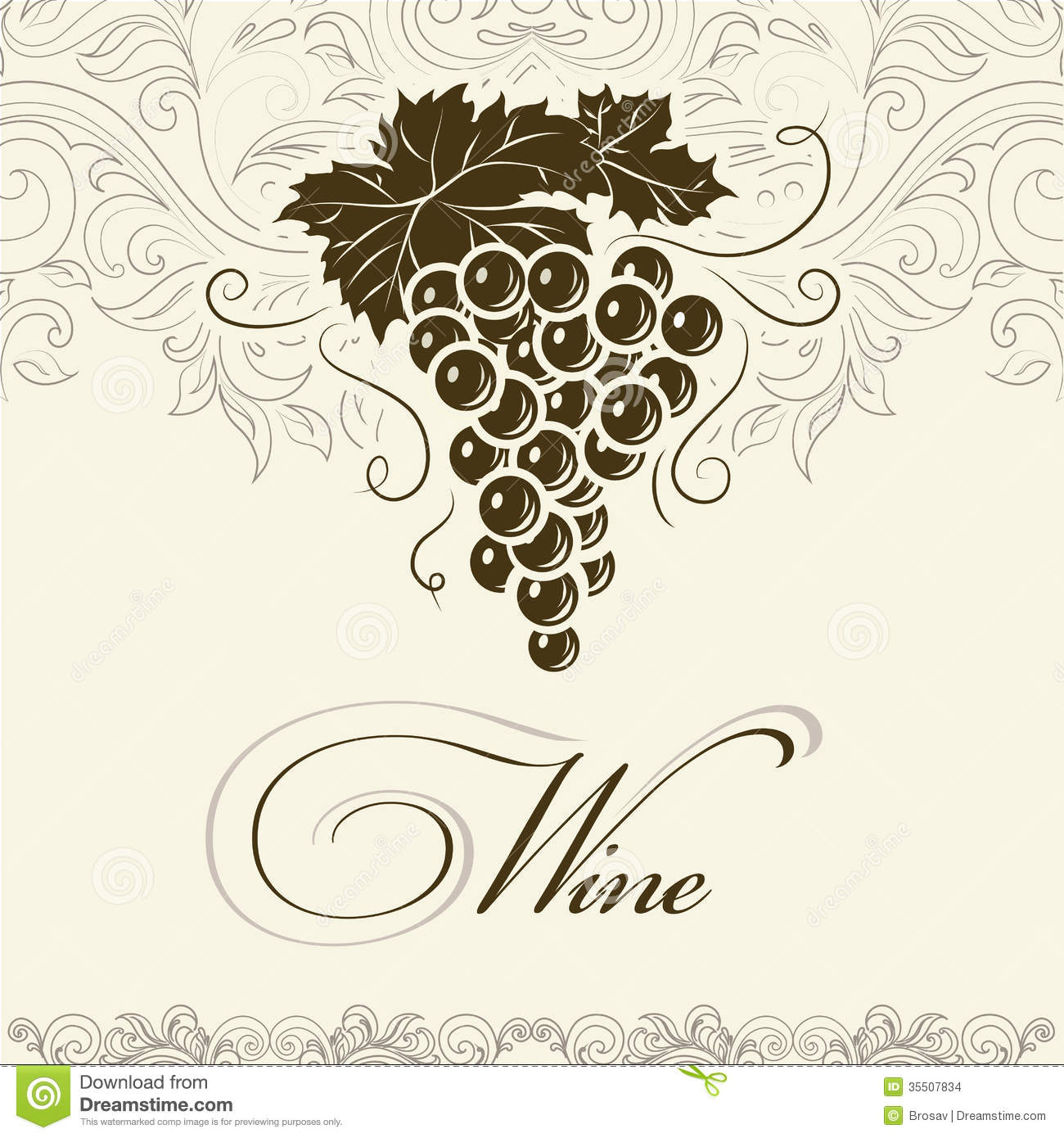 Bunch Of Grapes For Labels Of Wine Images Image 35507834 – Wine Bottle Labels Template Free