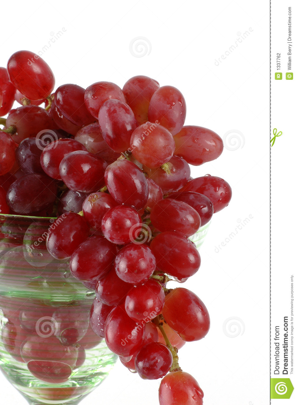 Bunch of Grapes In A Wine Glass