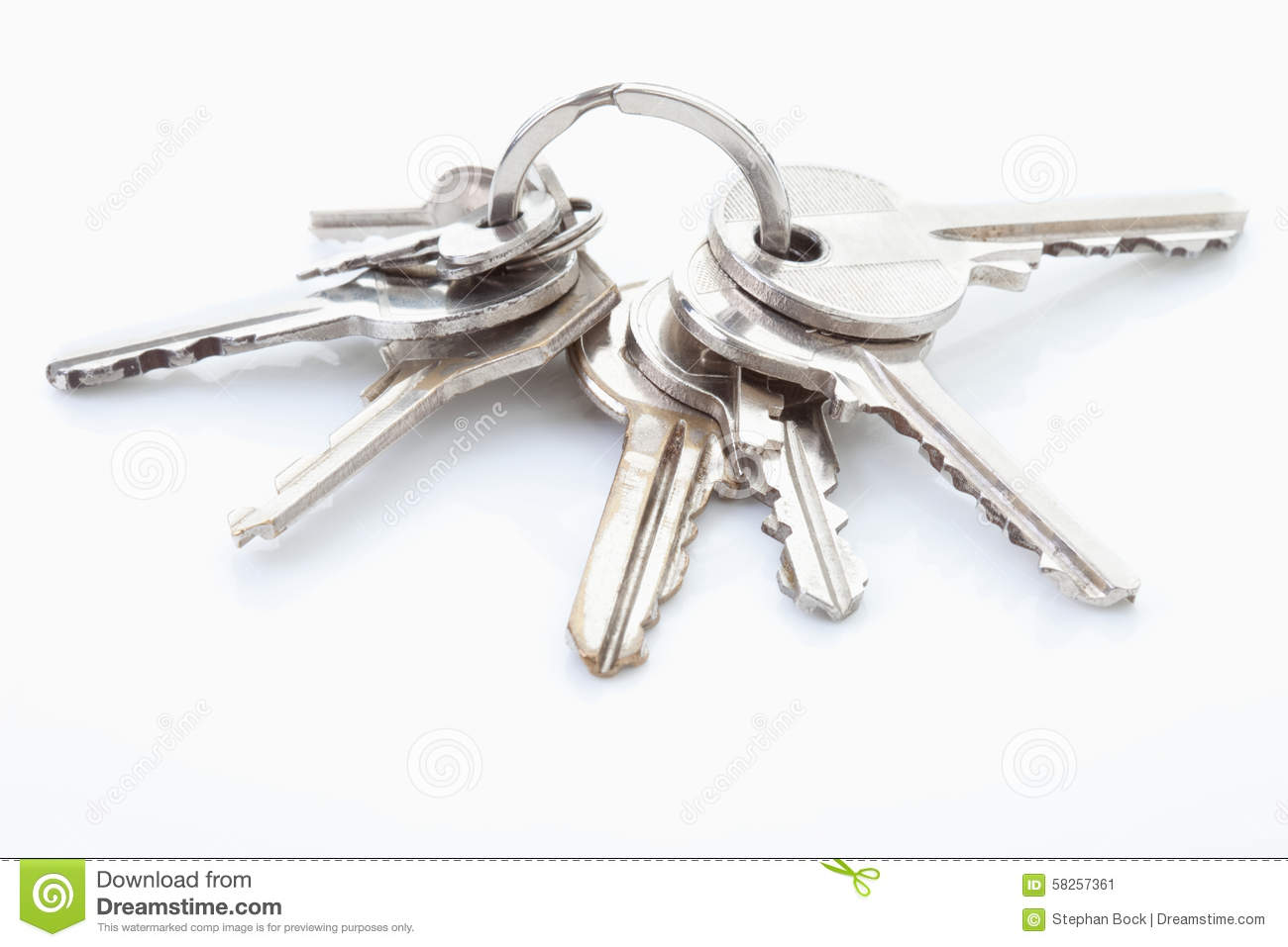 Bunch of keys on white Keys