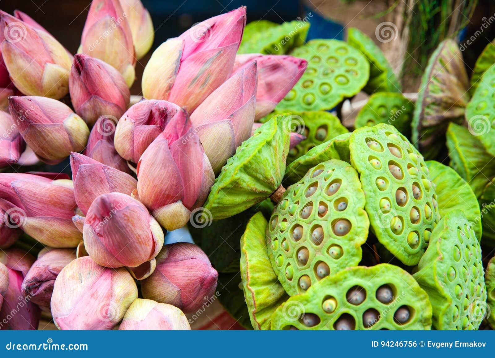 Bunch Of Lotus Flowers Stock Photo Image Of Beautiful 94246756