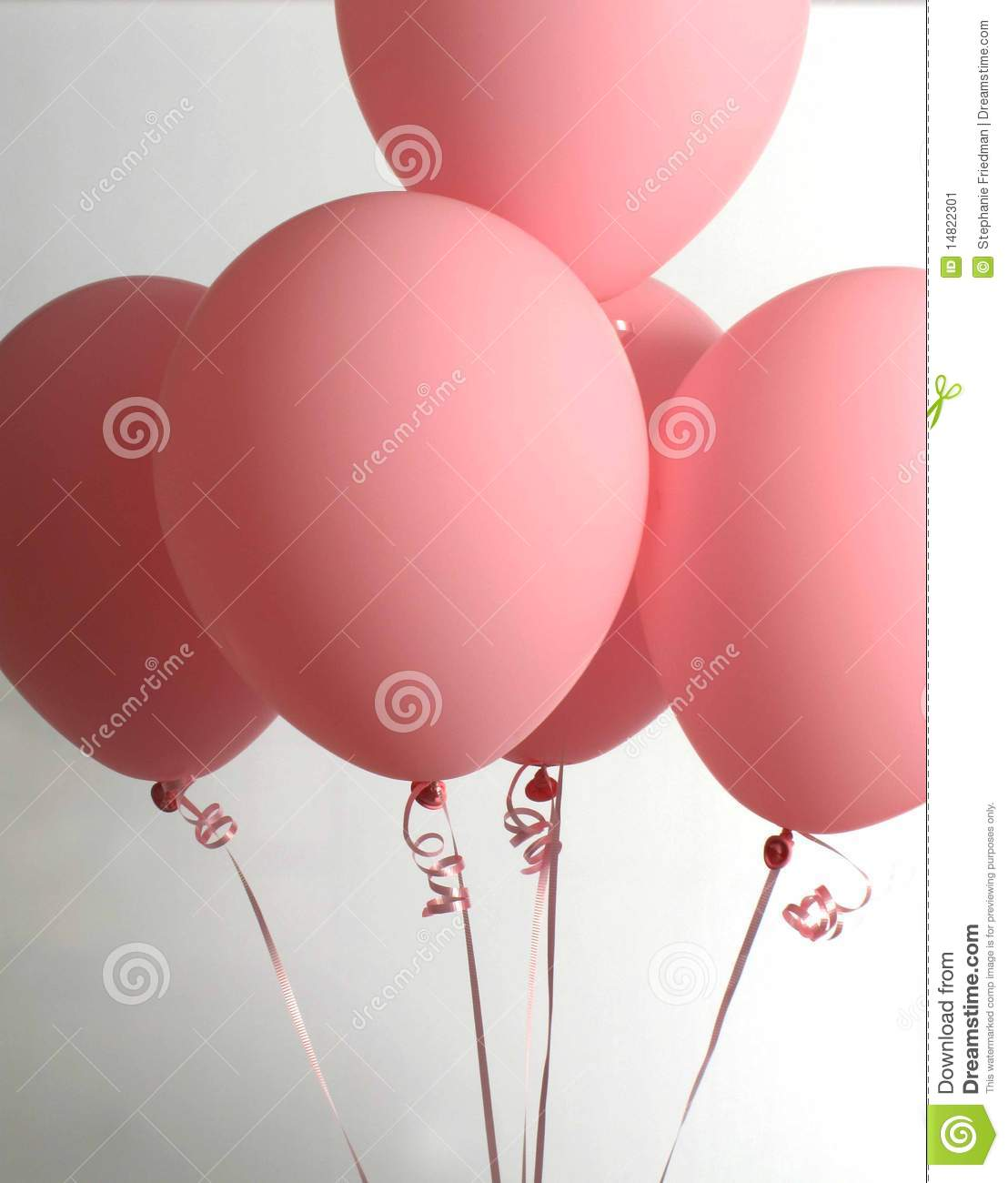 Bunch Of Pink Balloons Stock Image - Image: 14822301