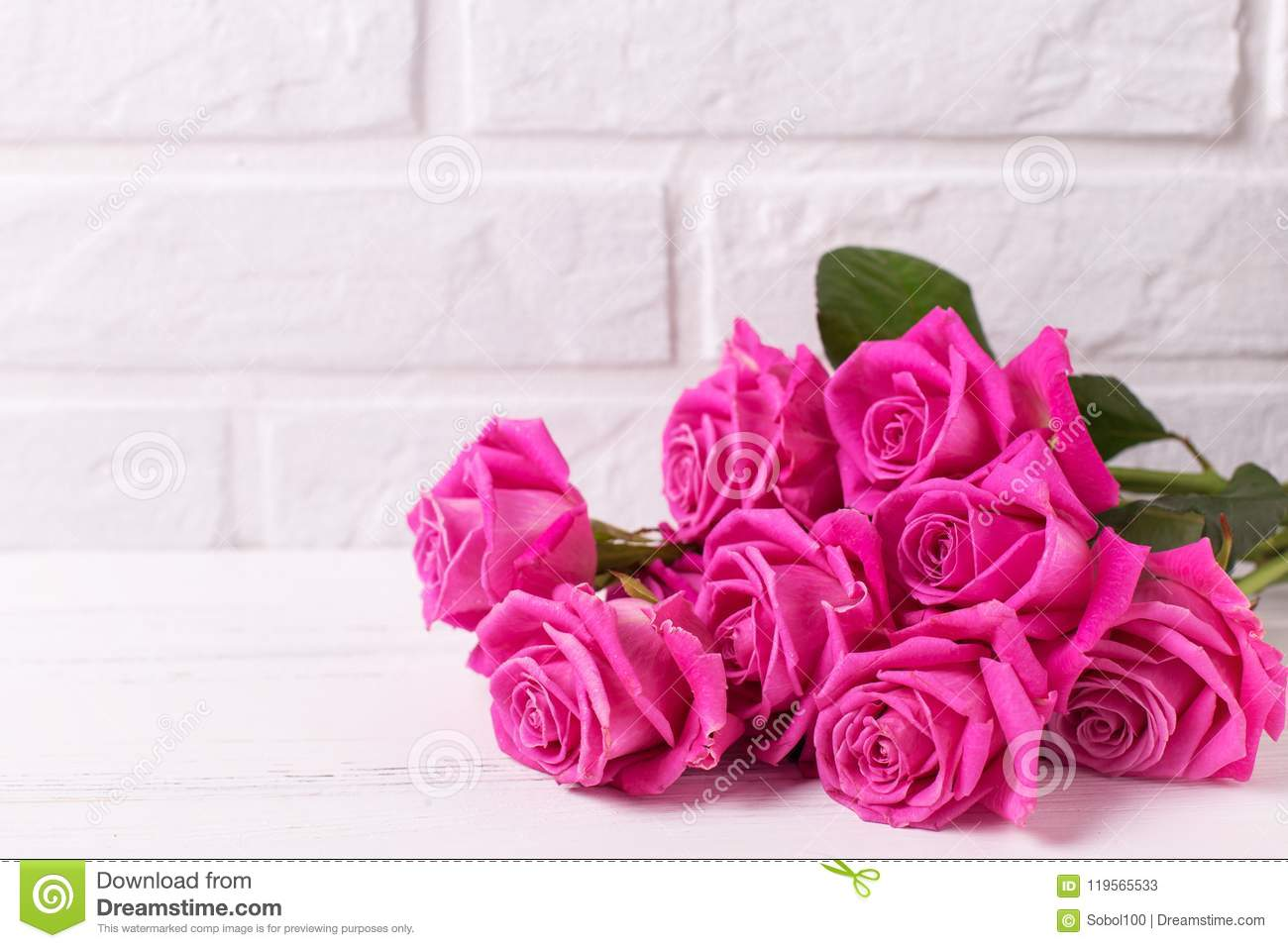 Bunch Of Pink Roses Flowers Stock Image Image Of Gift Celebration