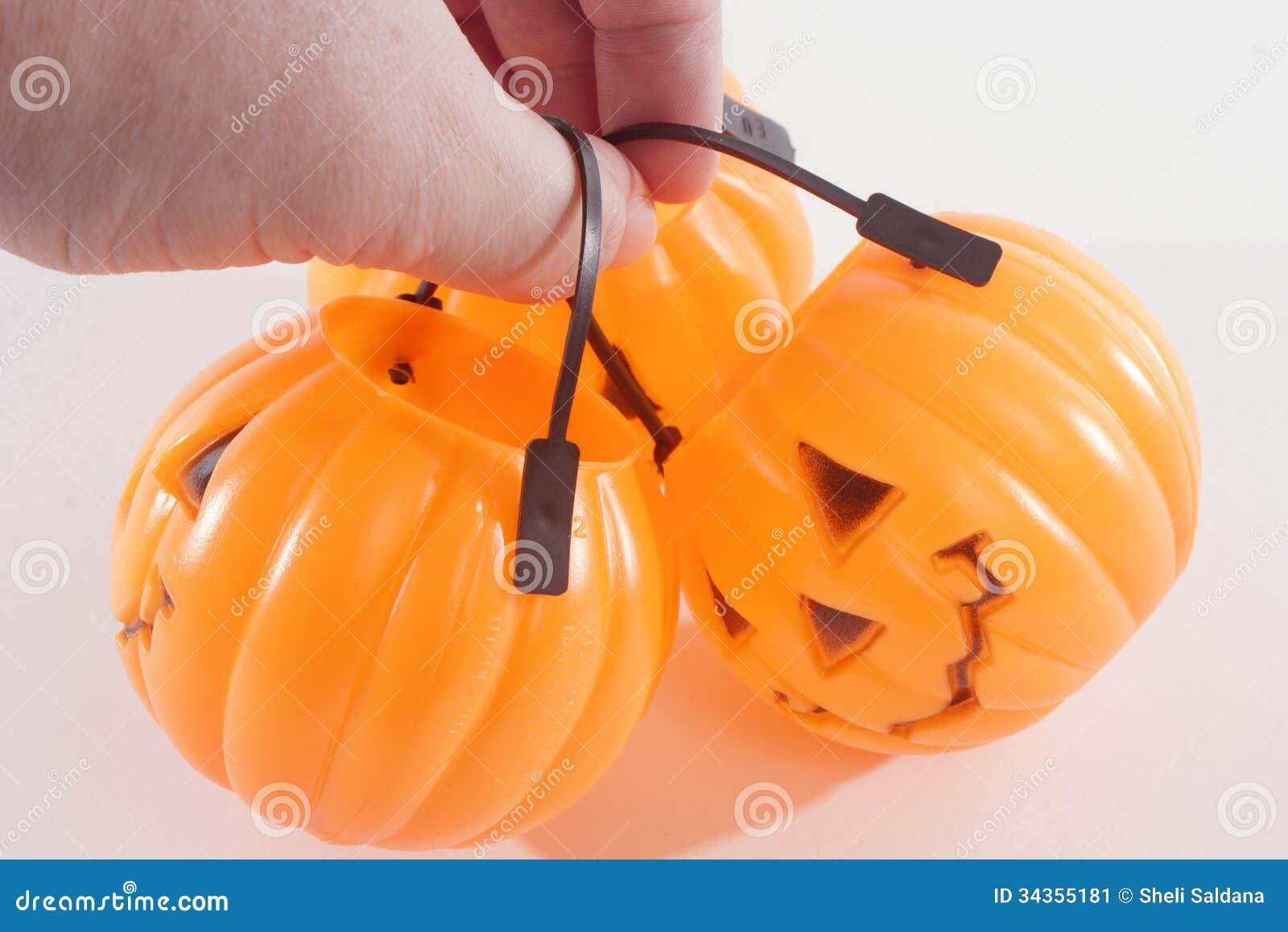 A Bunch of Plastic Pumpkins