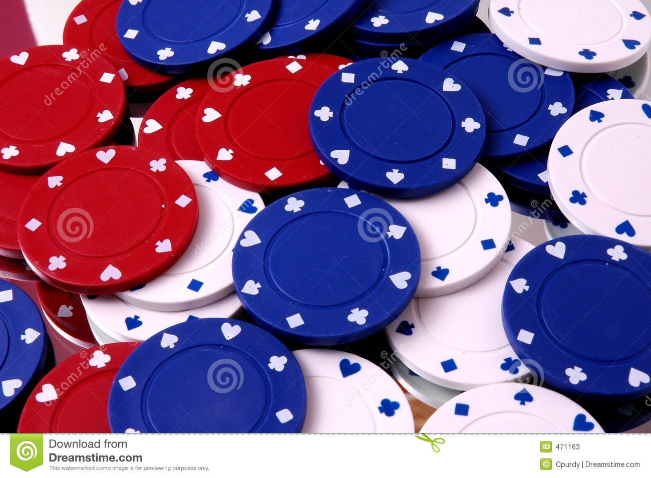 Bunch of Poker Chips
