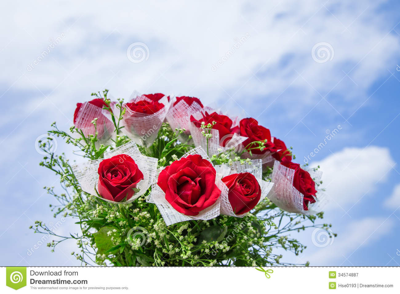 a bunch of red rose flowers stock image - image of rose, bunch: 34574887