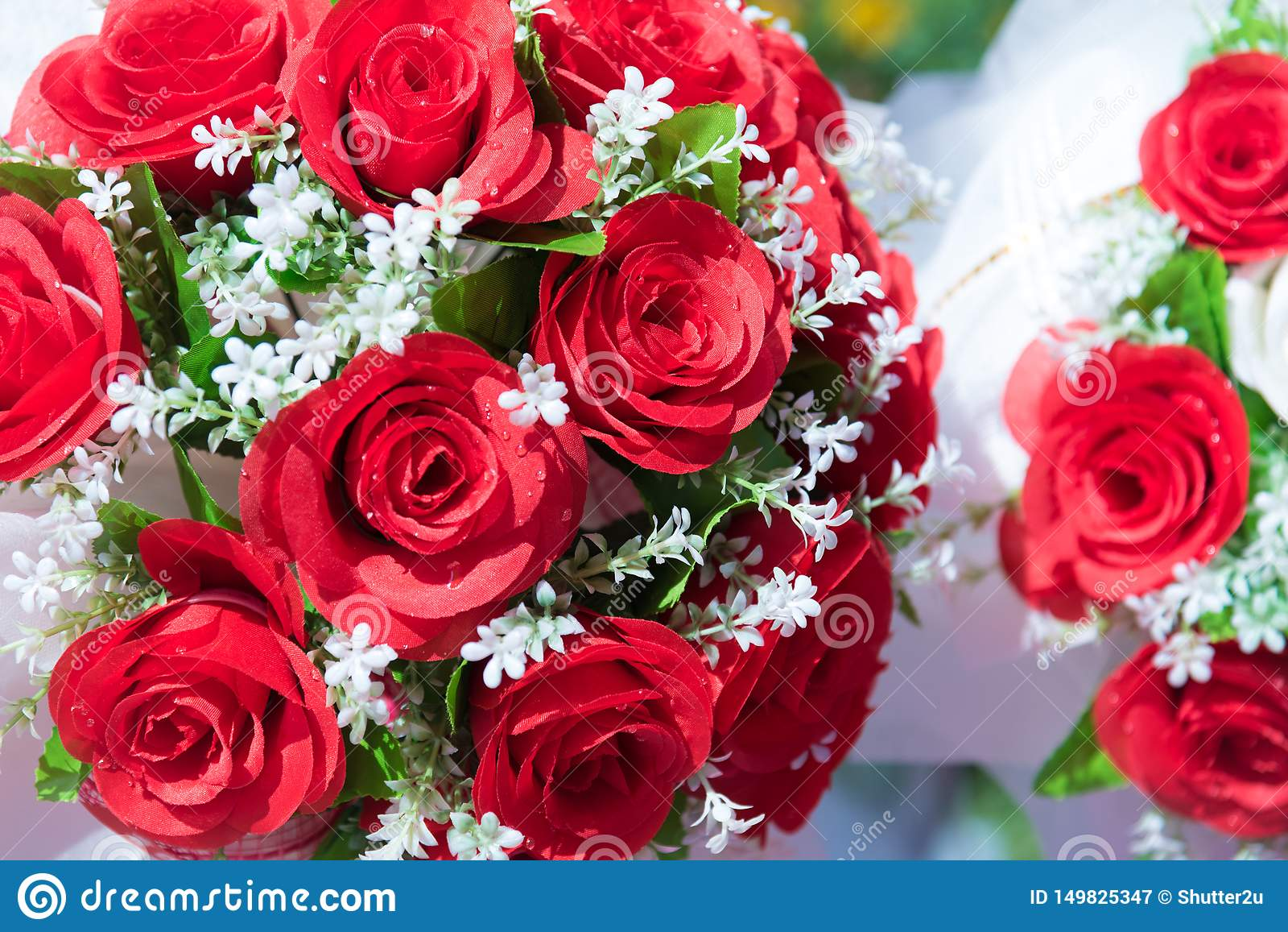 Bunch Of Rose Flower And Floral Concept Valentines Day