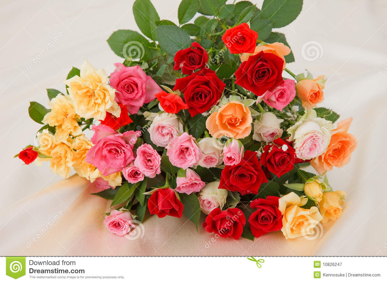 Royalty-Free Stock Photo. Download Bunch Of Roses ...