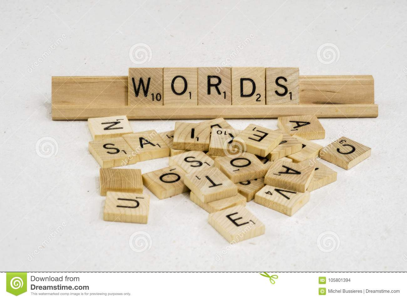 Words Are Made Of Letters Stock Photo Image Of School 105801394