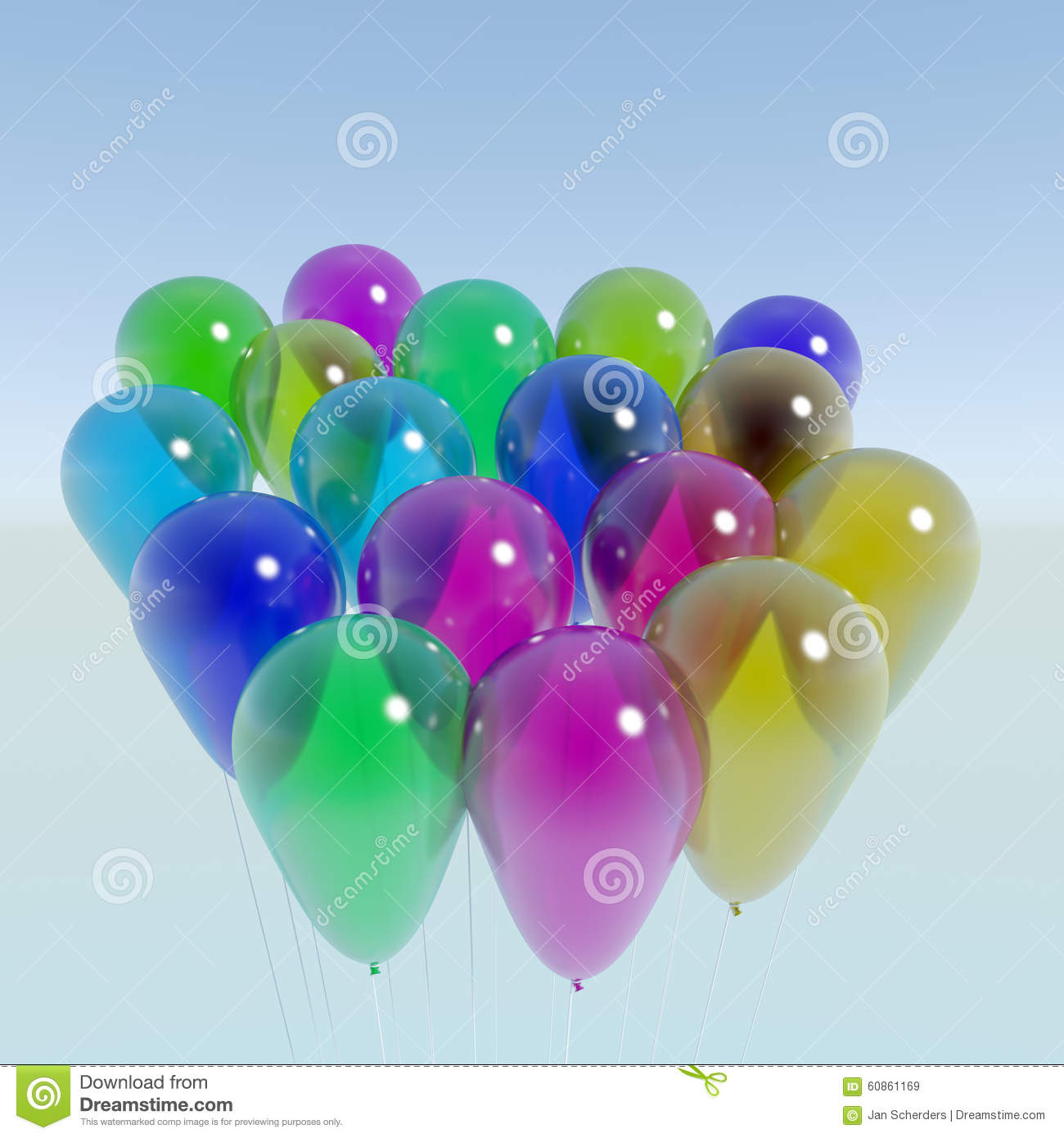 Bunch of Transparent Balloons