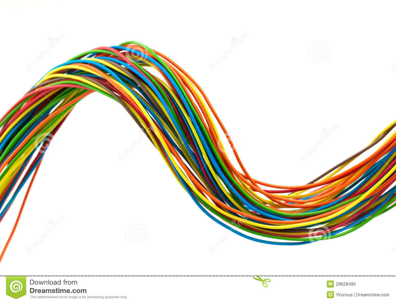 Electrical Wire Clip Art : Bunch of wires stock illustration image electrical