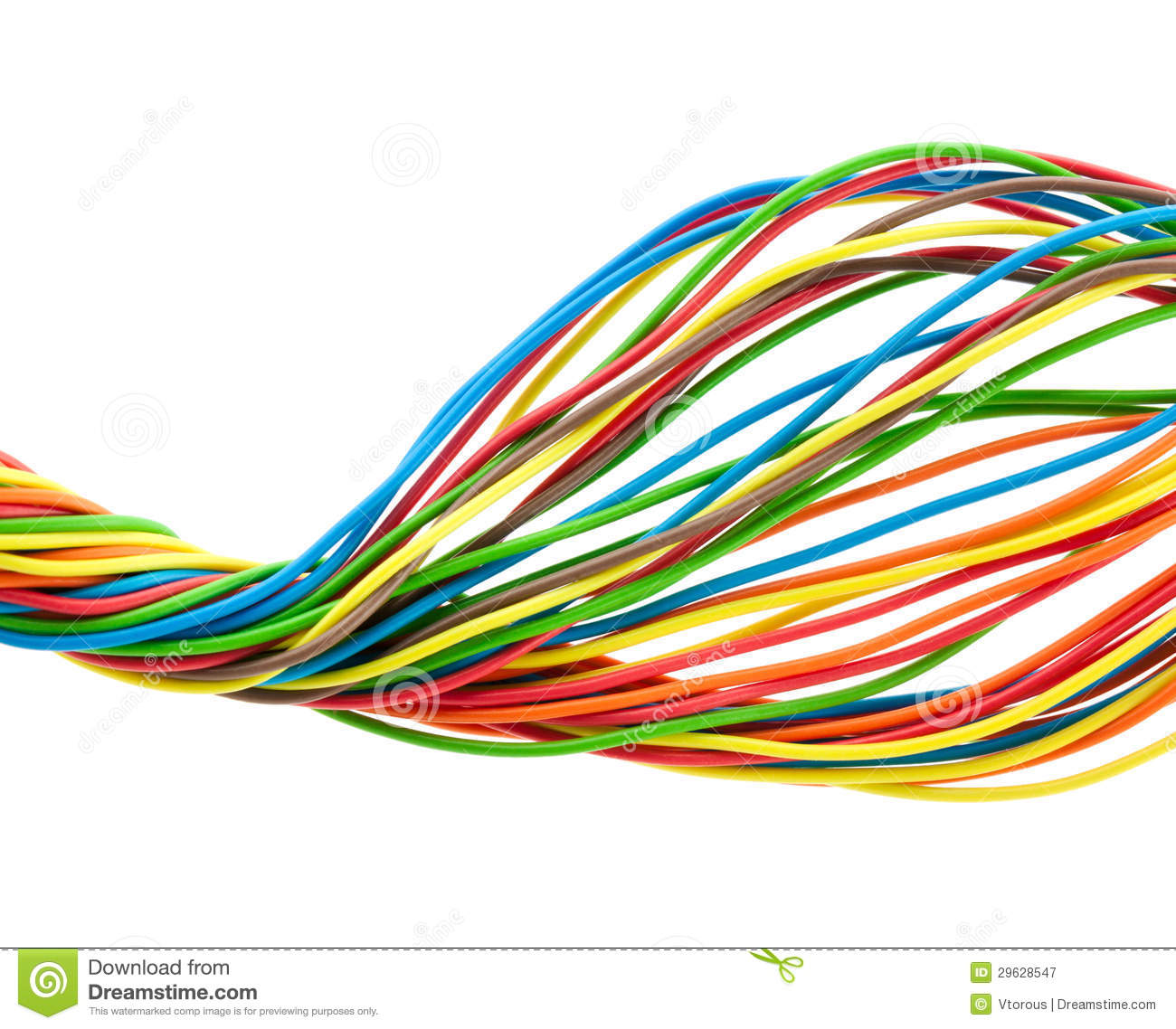 Bunch Of Wires Stock Illustration Illustration Of