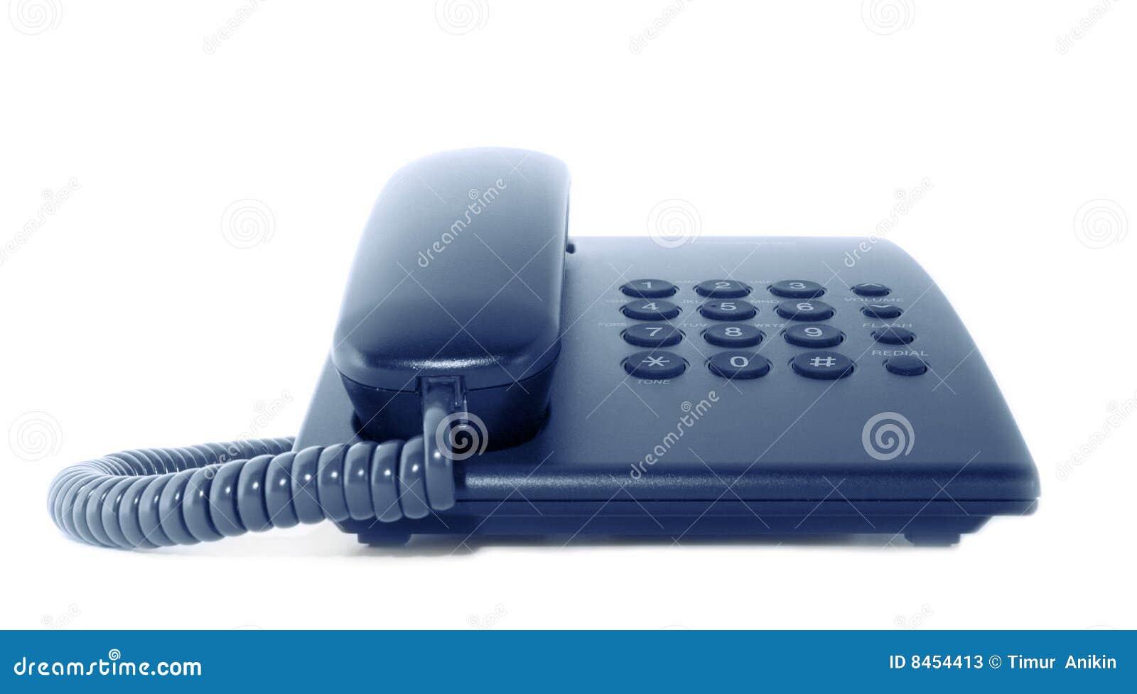 Bunden med rep kontorstelefon