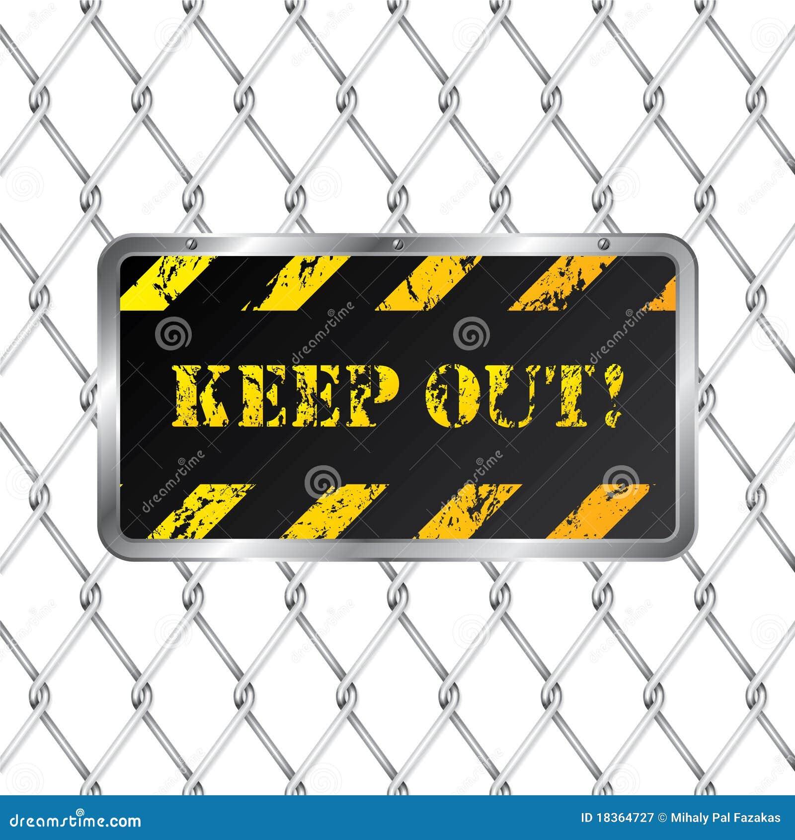 Bunden staketplattavarning