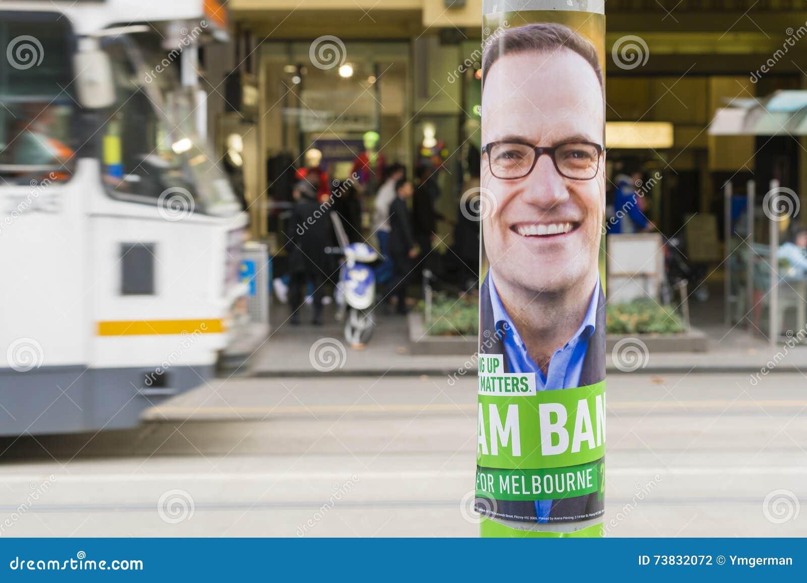Bundestagswahlplakat in Melbourne