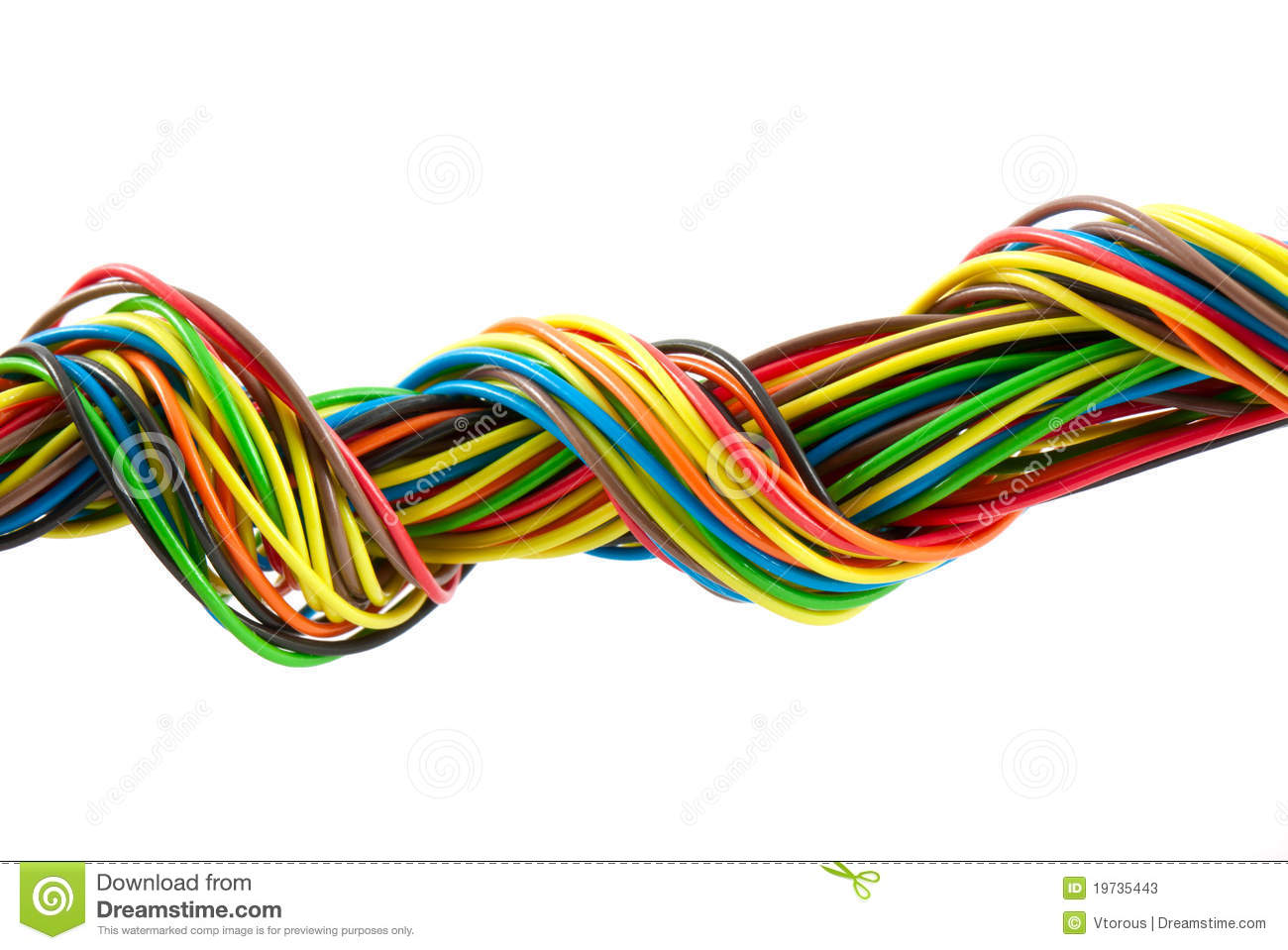 Bundle of color cables stock image. Image of bunch, cord - 19735443