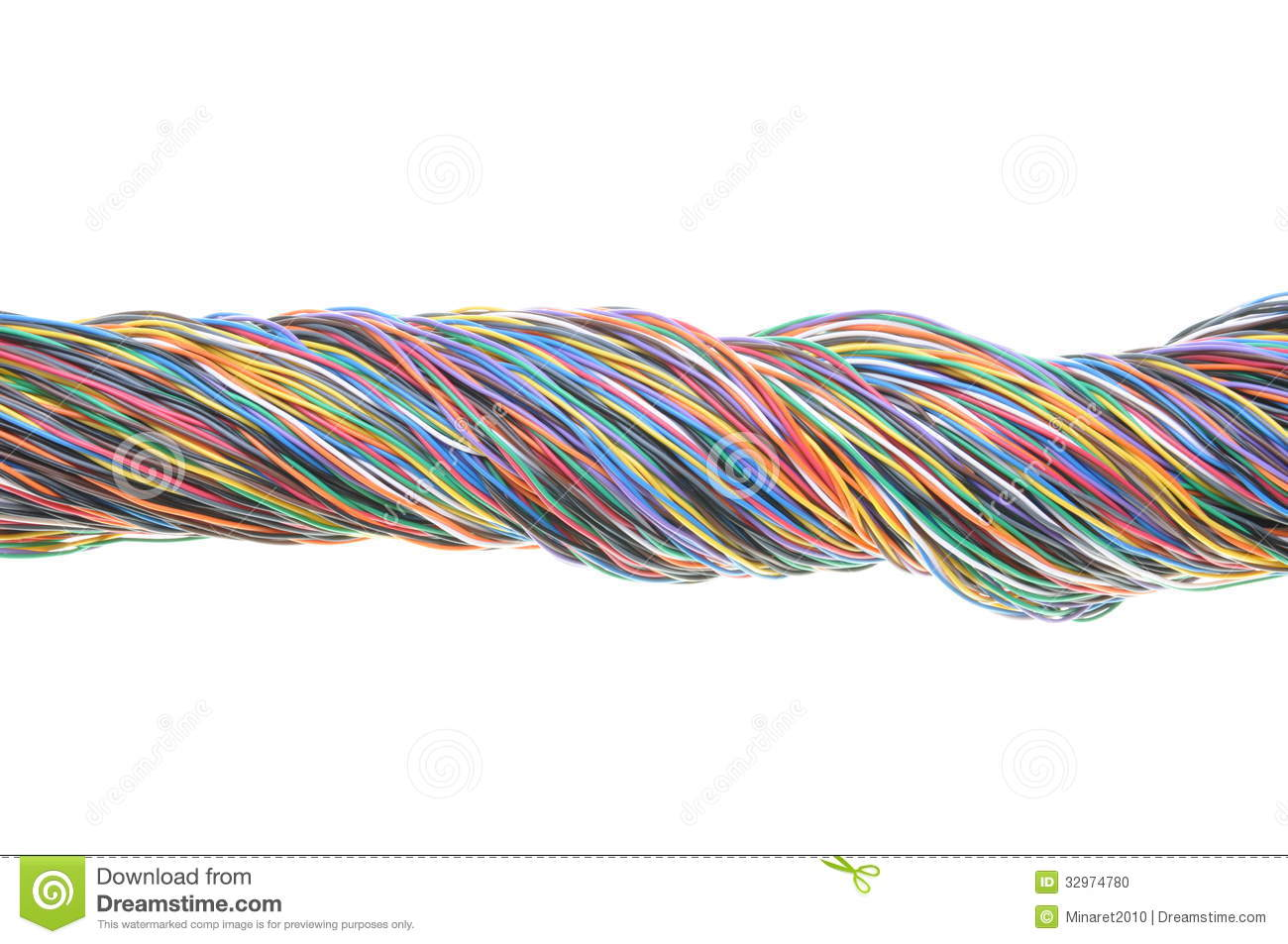 Bundle Of Electric Cables Stock Photo Image Of Line