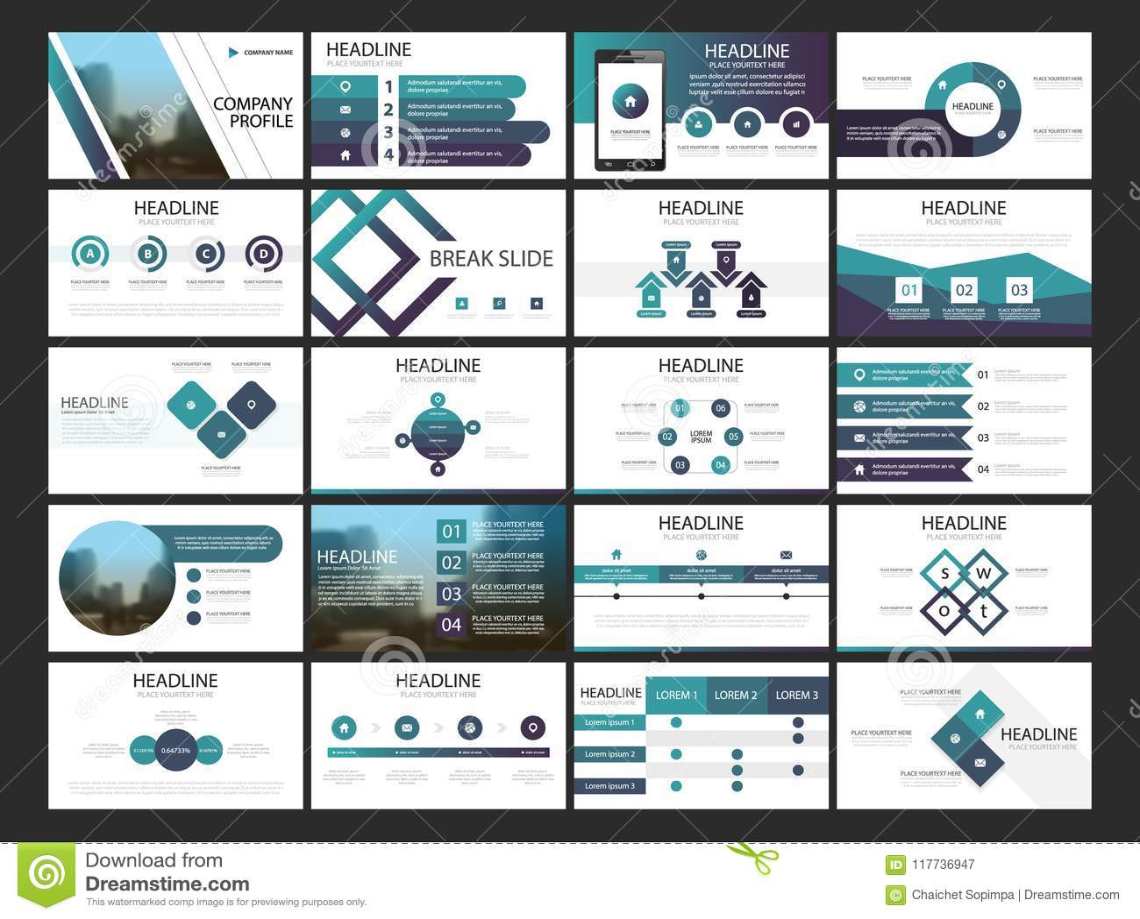 Bundle infographic elements presentation template. business annual report, brochure, leaflet, advertising flyer,