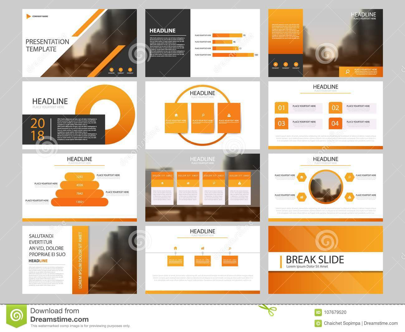 Bundle Infographic Elements Presentation Template Business Annual