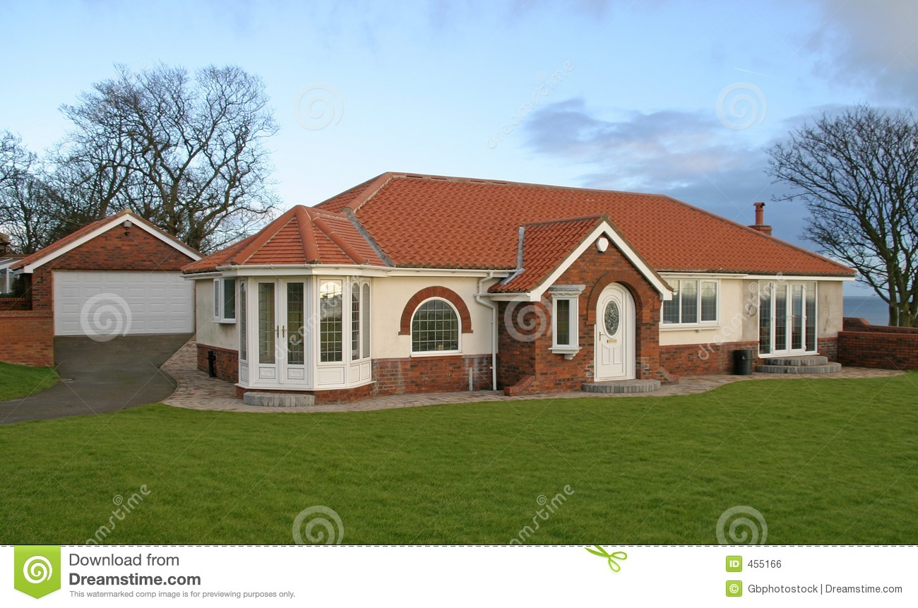 bungalow with garage stock photo image of build fascia