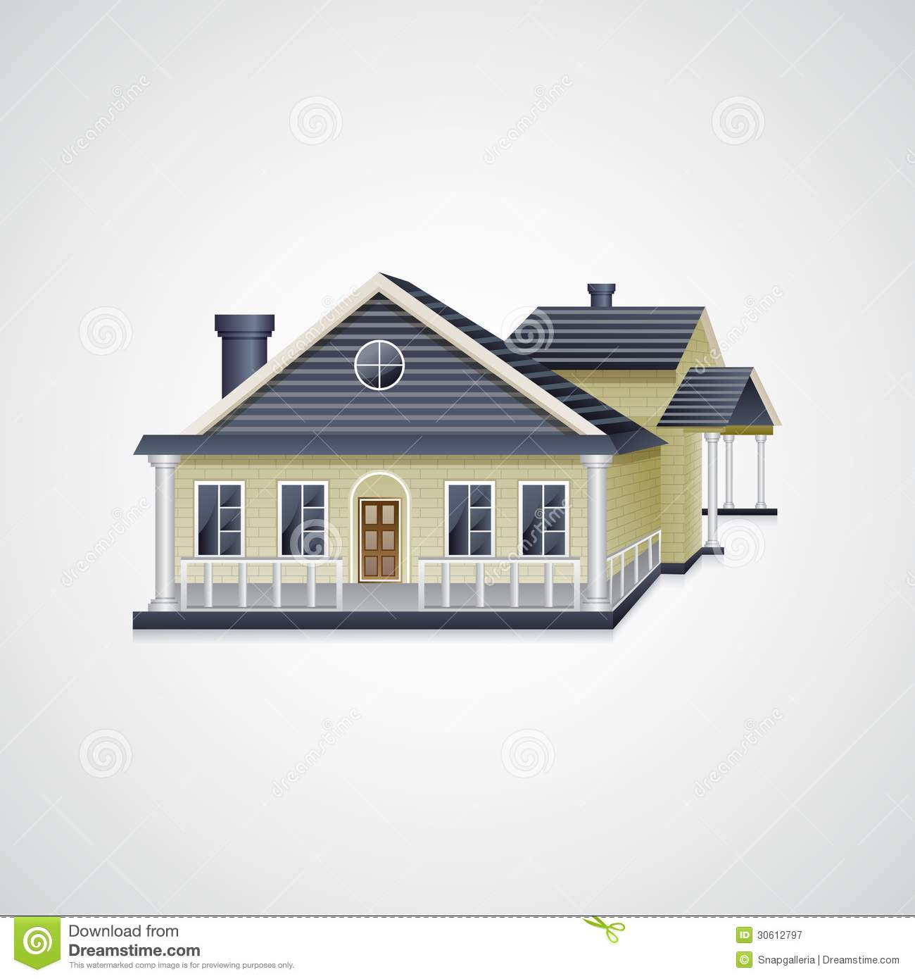 Bungalow House Stock Vector Image Of Bungalow Icon