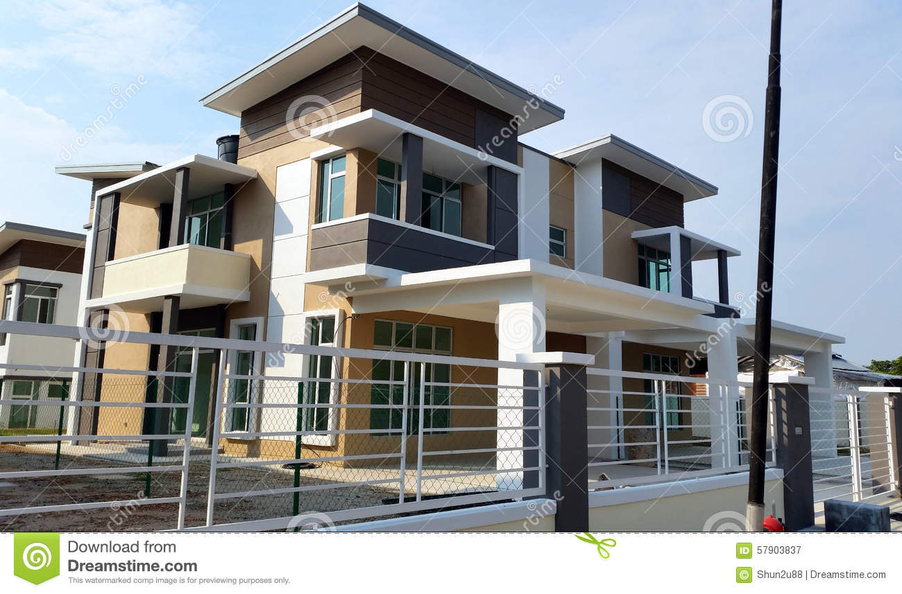 Bungalow house exterior stock photo image 57903837 for Exterior design of 2 storey house