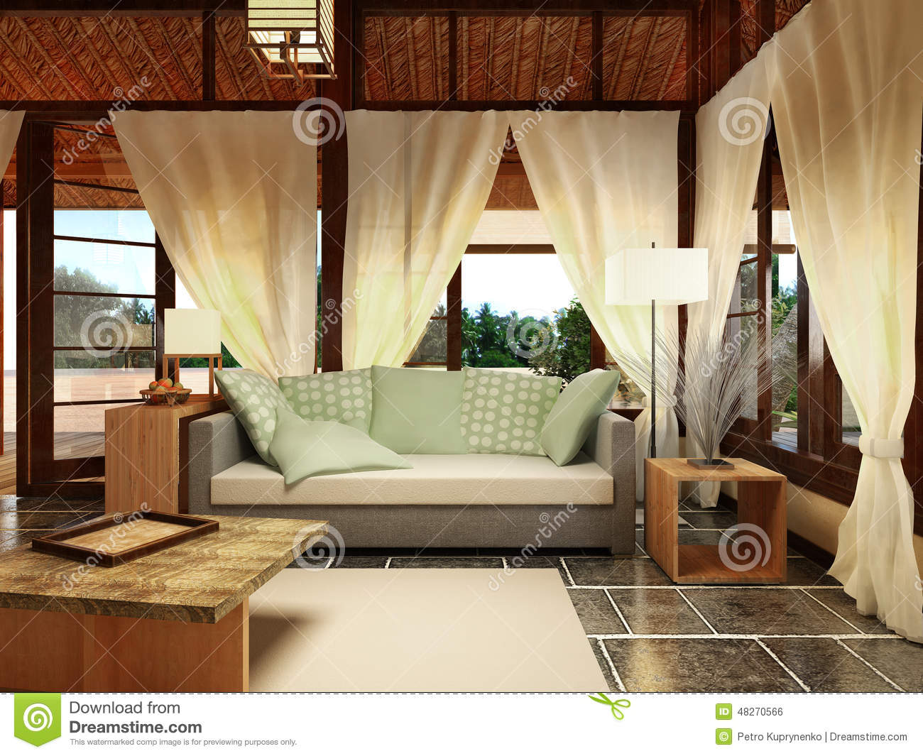 Bungalow Interior Design Stock Illustration Image 48270566