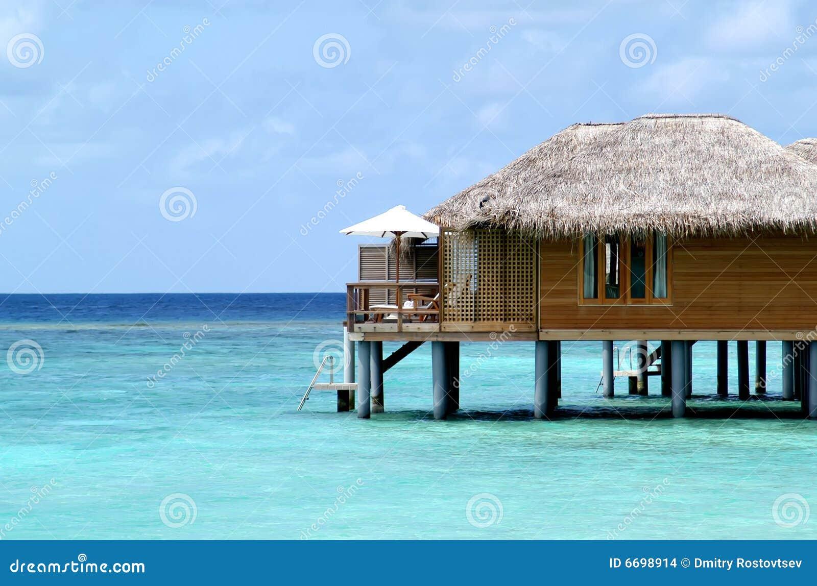Bungalow op de Maldiven