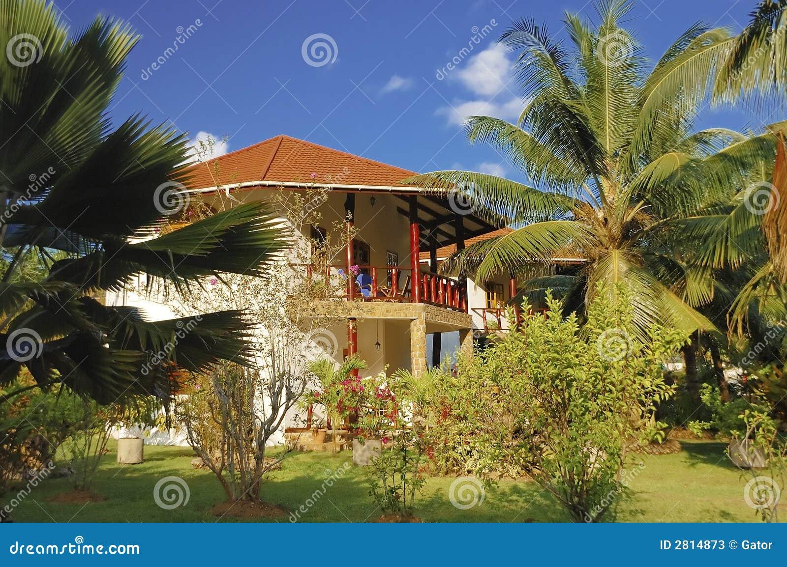Bungalow In Tropical Garden Stock Photos Image 2814873