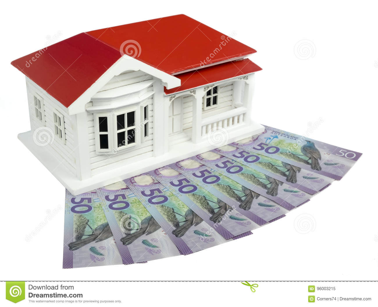 Bungalow Villa House Model With New Zealand NZ Dollars