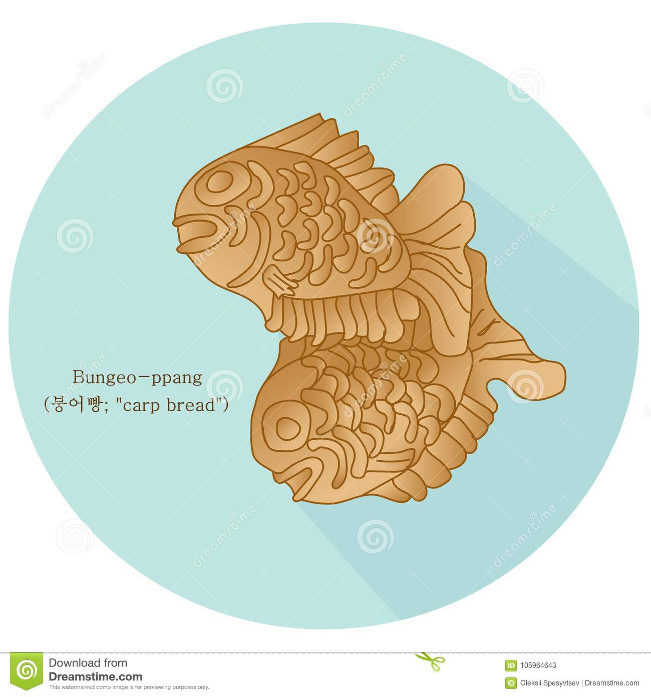 Sweetened cartoons illustrations vector stock images for Fish shaped bread