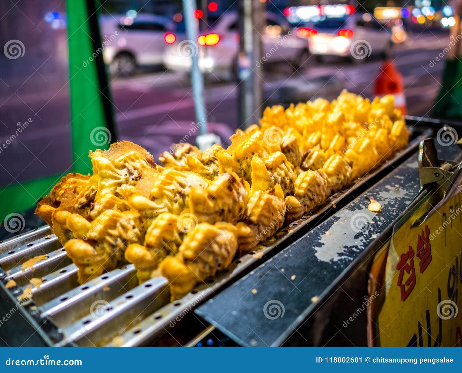 Bungeoppang Traditional Korean Food In Local Market Street Food