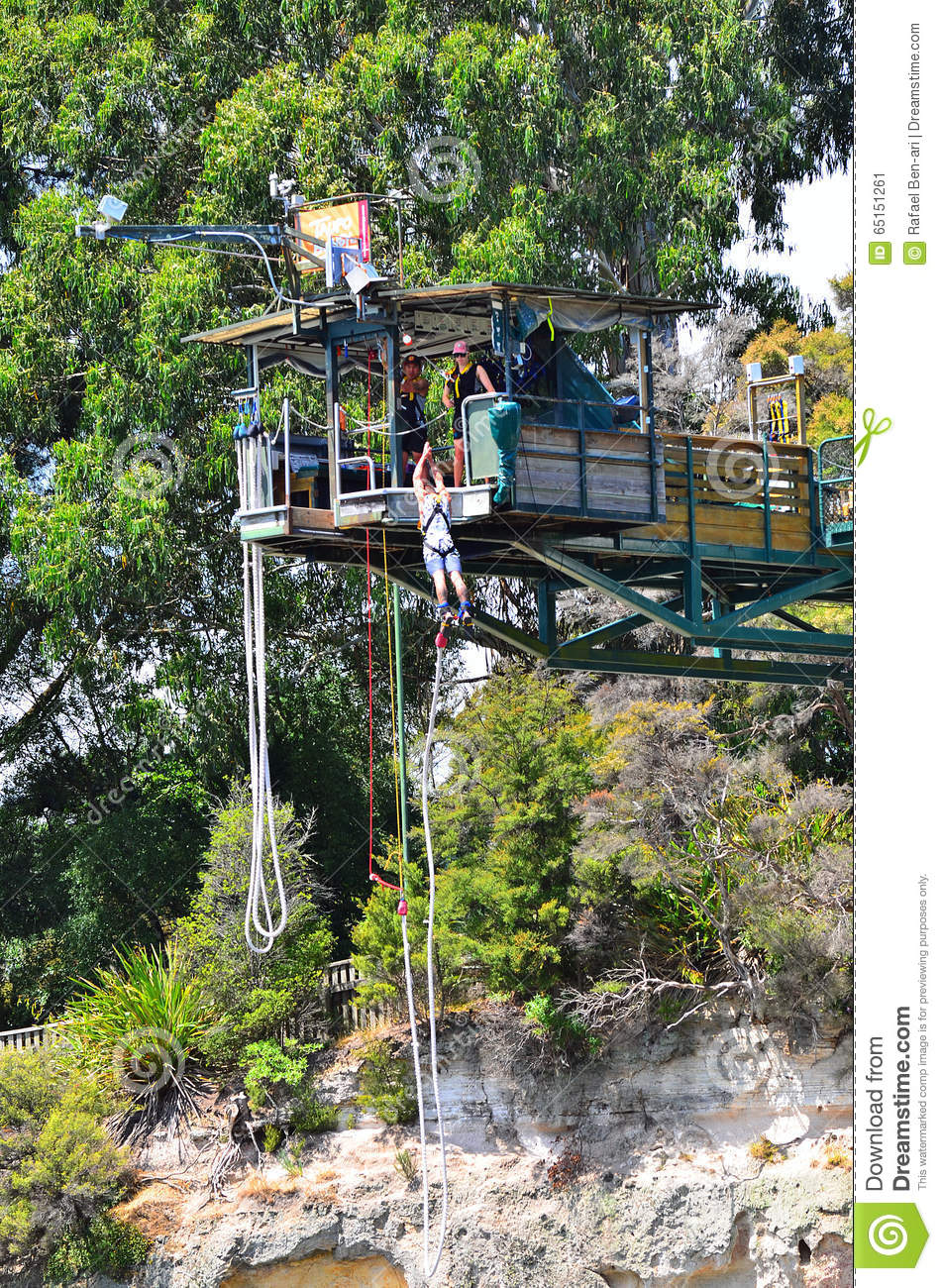 Bungy Jump In Taupo New Zealand Editorial Photo - Image of