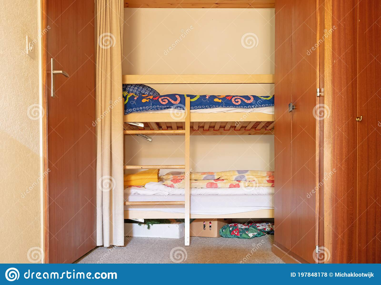 Bunk Bed In The Hallway Of An Old Apartment Stock Photo Image Of Children Wooden 197848178