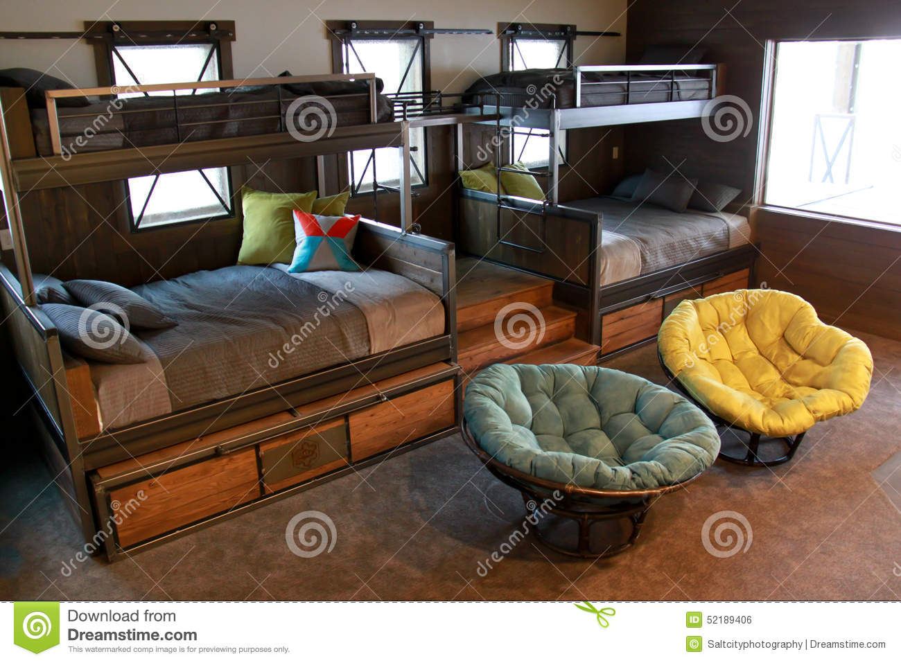 huge discount f91dc 18597 Bunk Beds stock photo. Image of living, color, image - 52189406