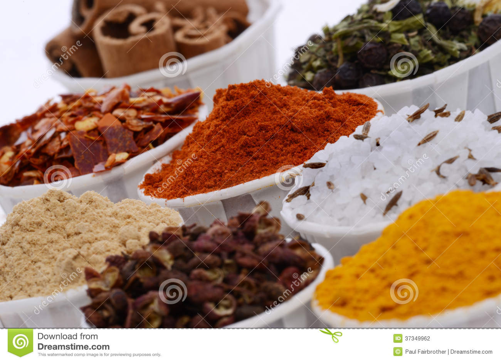 Bunkar av kryddor