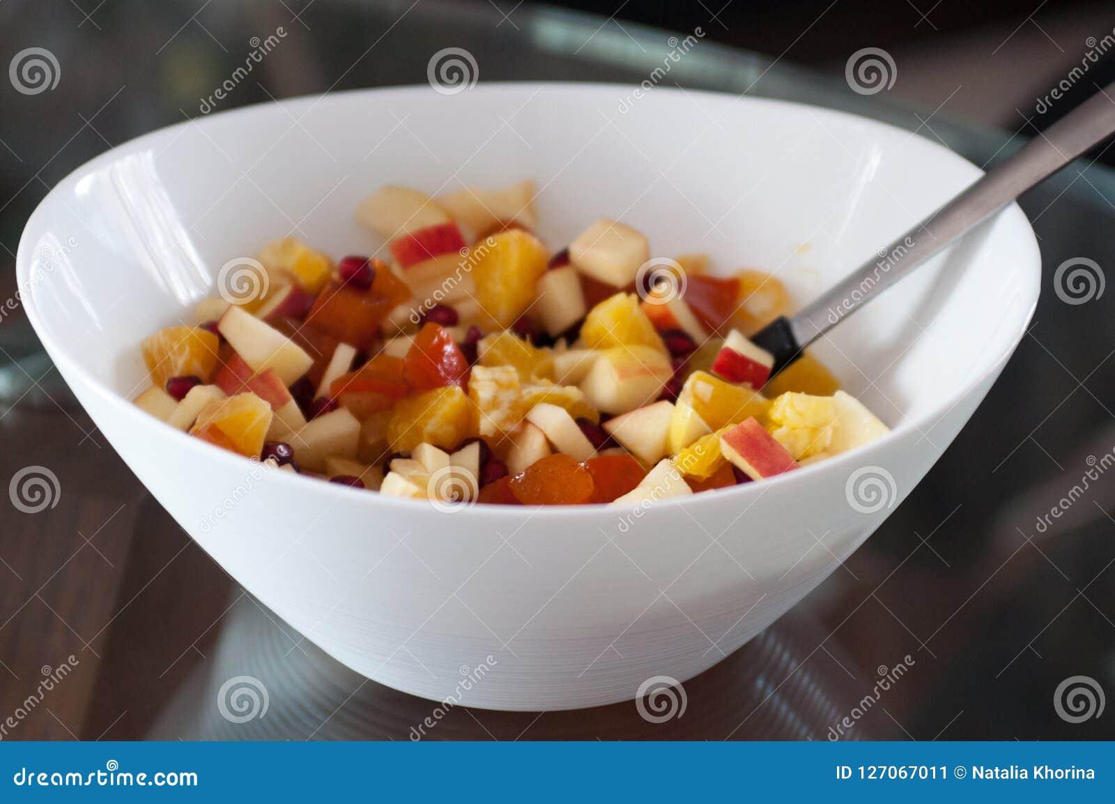Bunke av fruktefterrättsallad