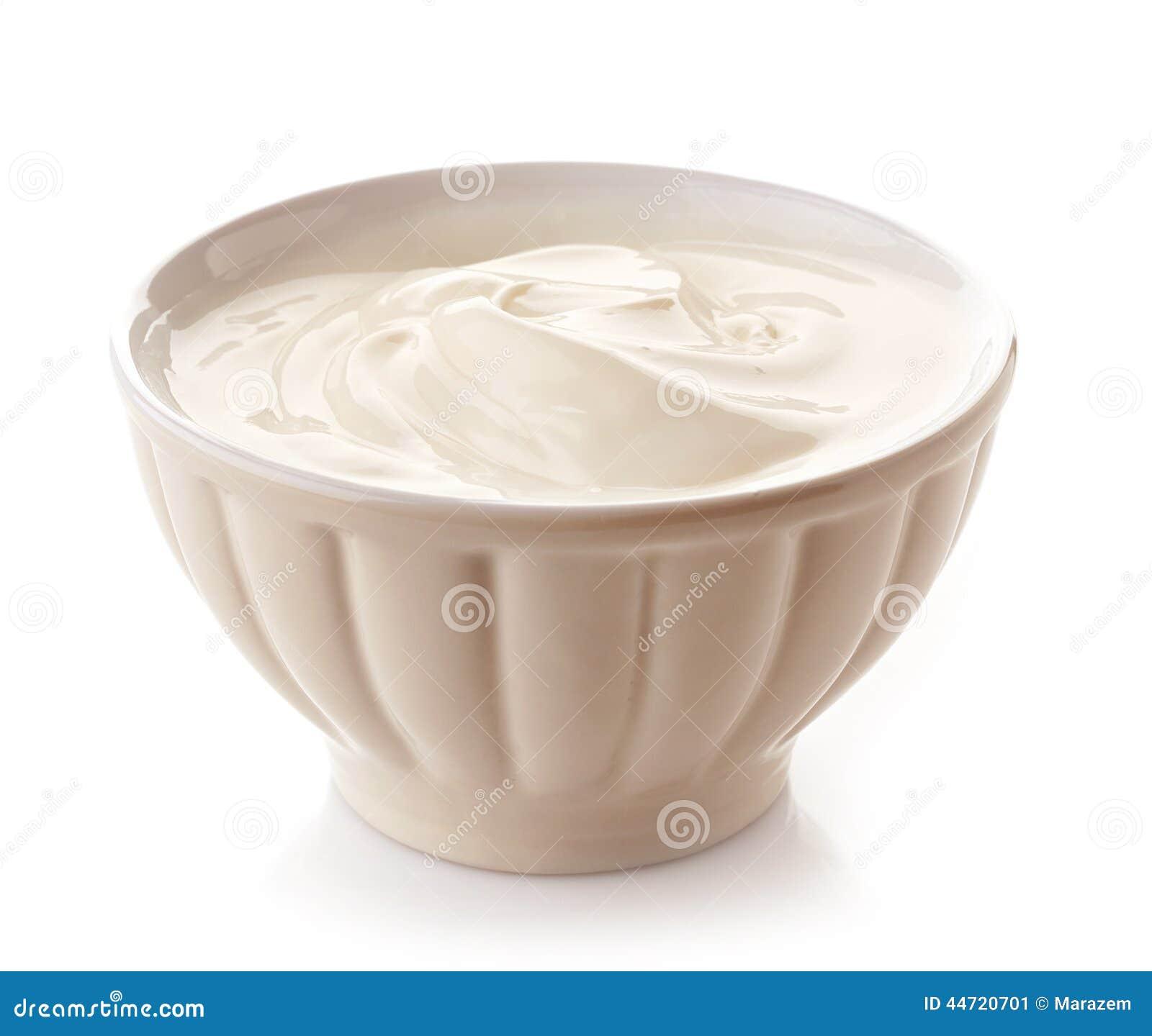 Bunke av grekisk yoghurt